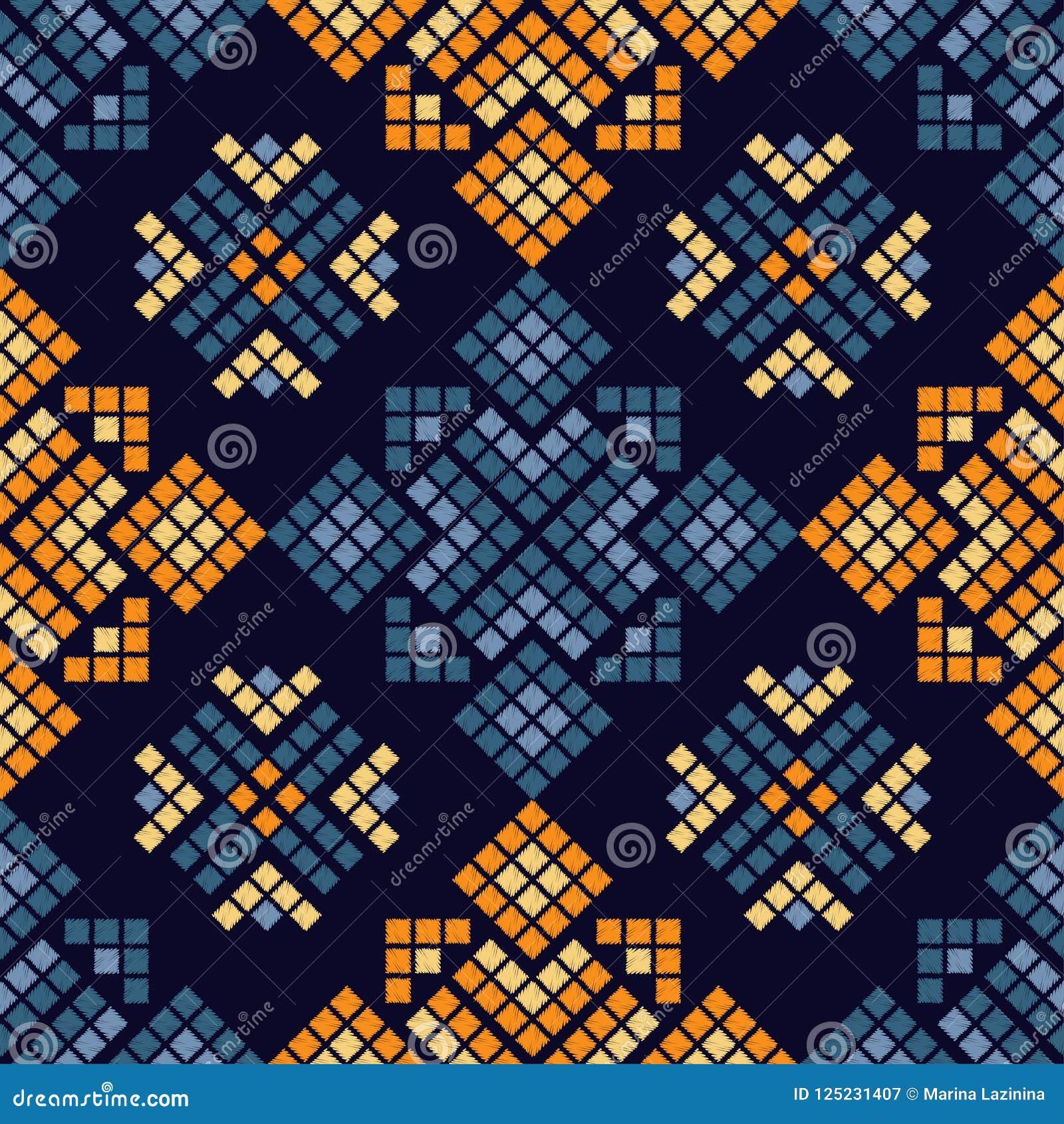 Etnicznego boho bezszwowy wzór tradycyjne ornament geometryczny tło plemienny wzoru Ludowy motyw