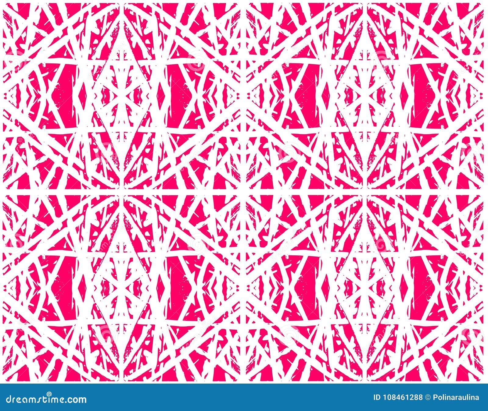 Etnisch abstract roze naadloos patroon voor textiel, keramische tegels of achtergronden