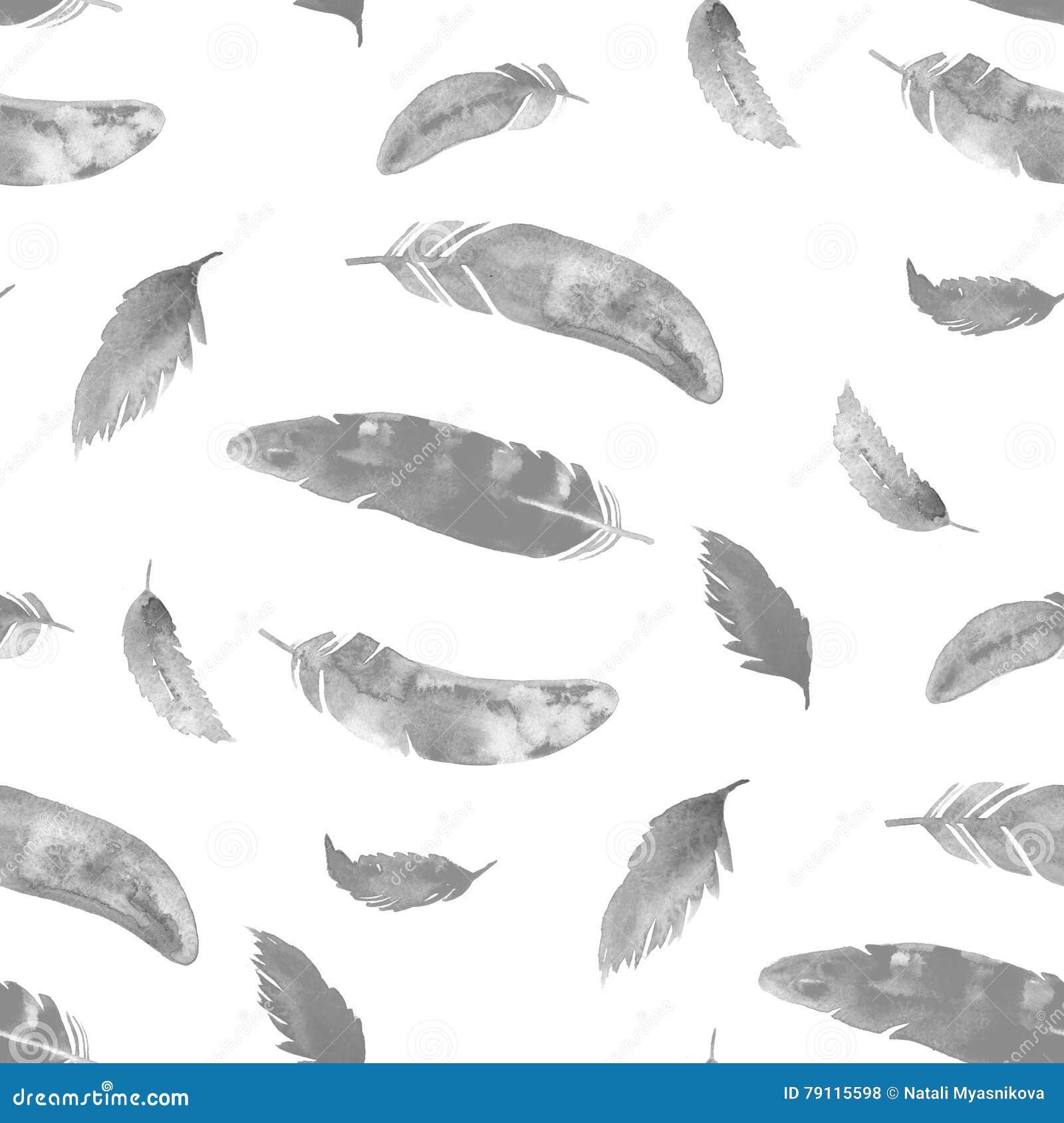 Etnisch boho naadloos patroon van de waterverfveer