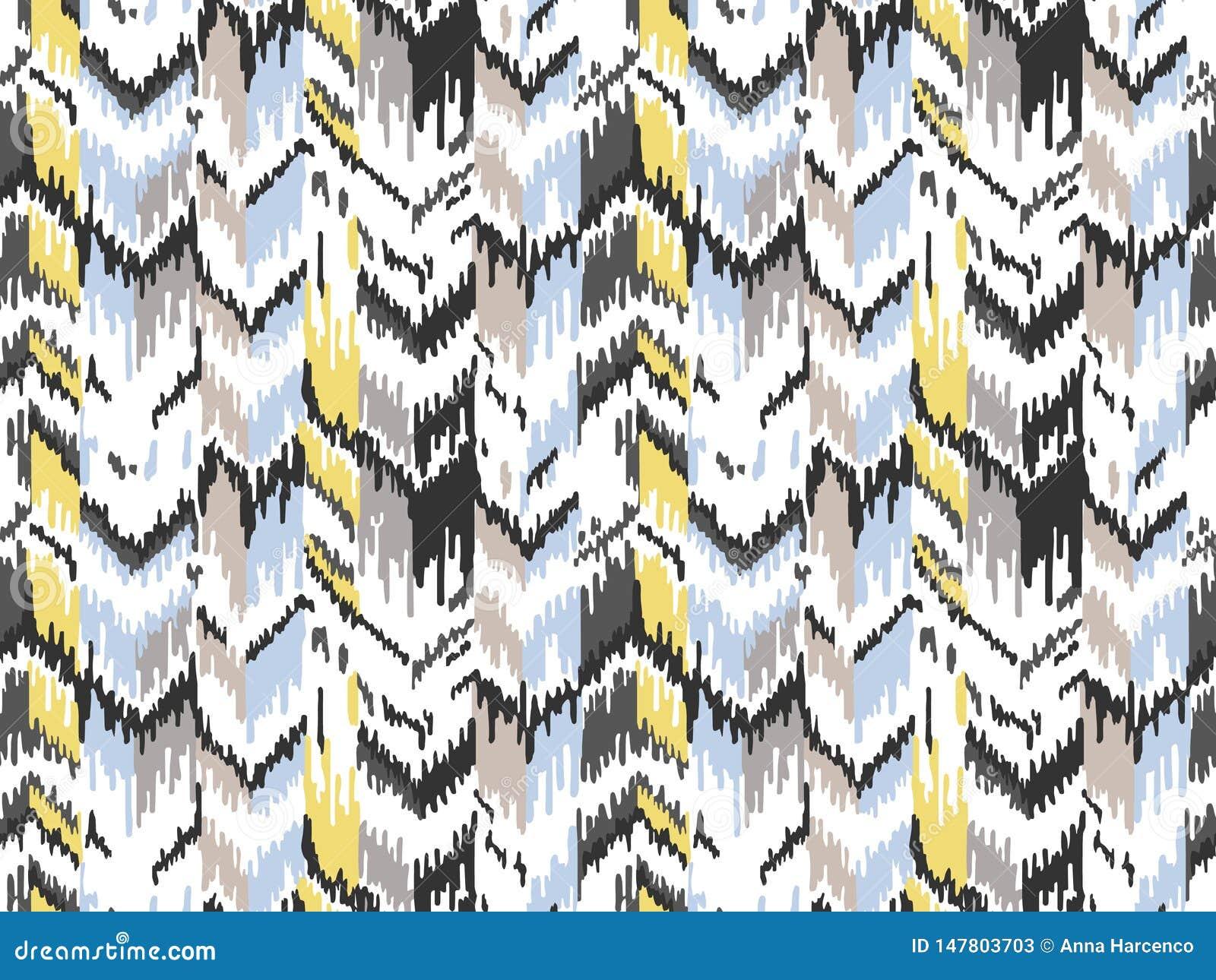 Etnisch naadloos patroon Stammen etnische vectortextuur Gestreept patroon in Azteekse stijl Ornament van de Ikat het geometrische