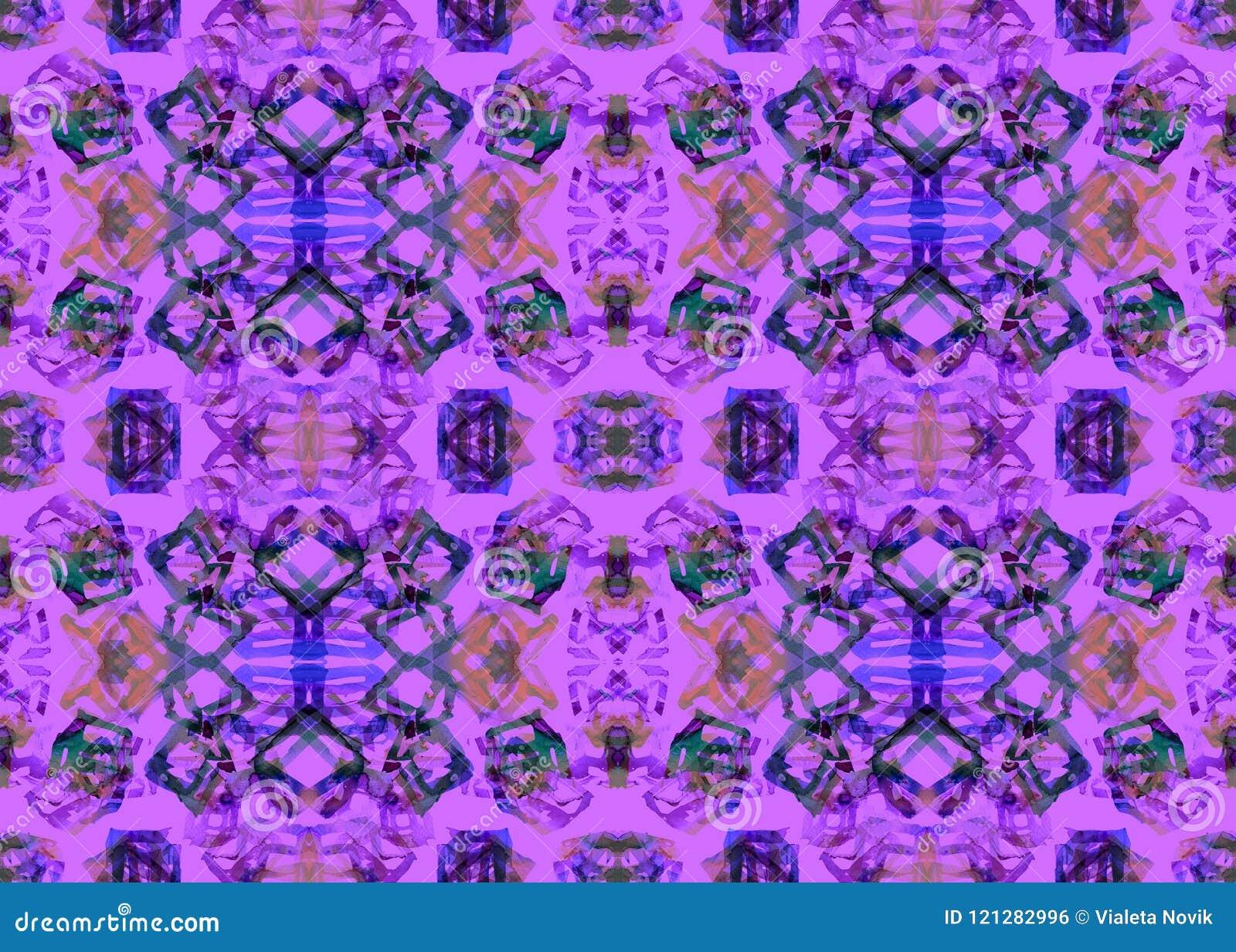 Etnisch patroon Waterverf geometrisch naadloos patroon