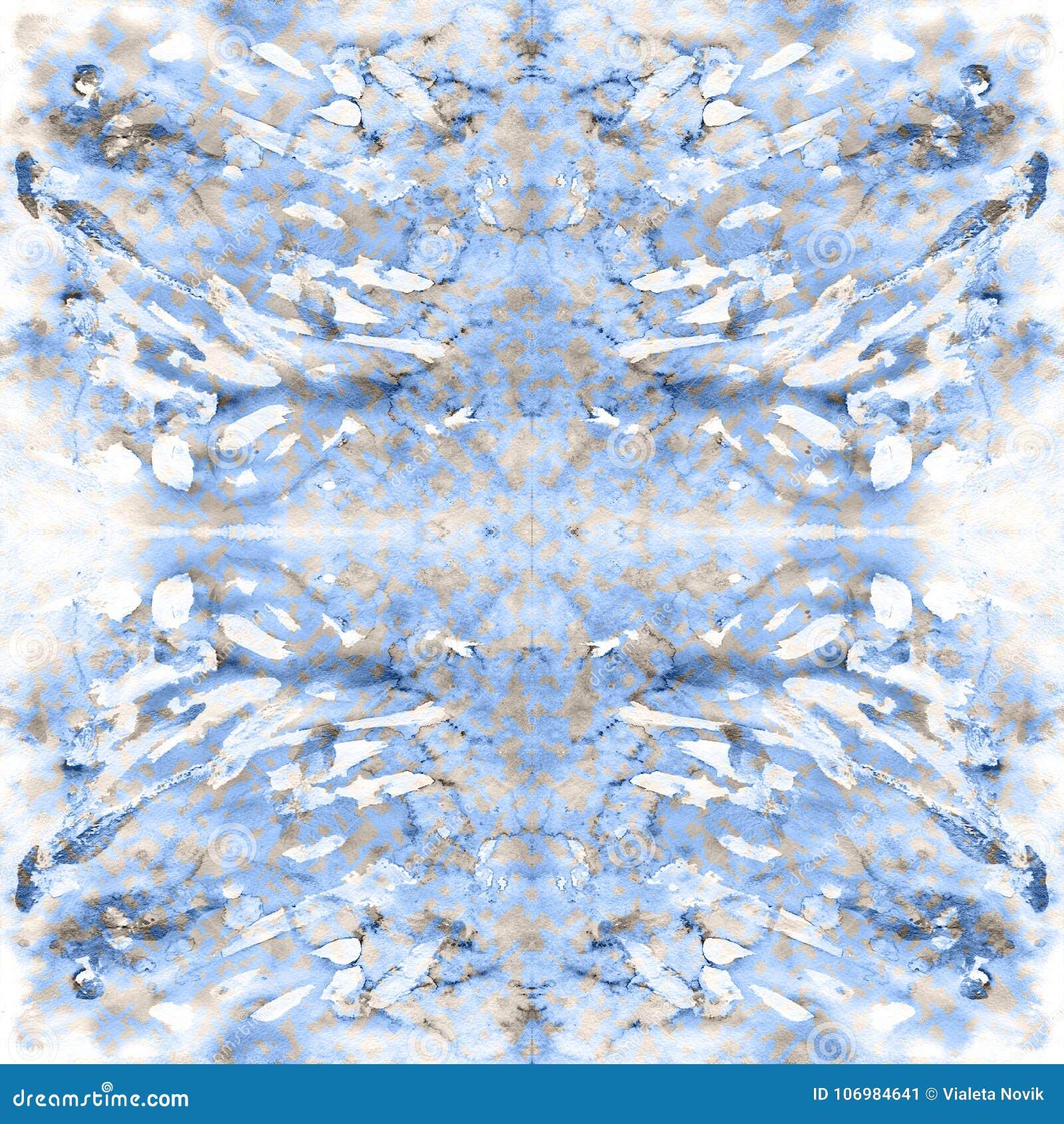 Etnisch Waterverf naadloos patroon met abstracte strepen, punten en penseelstreken