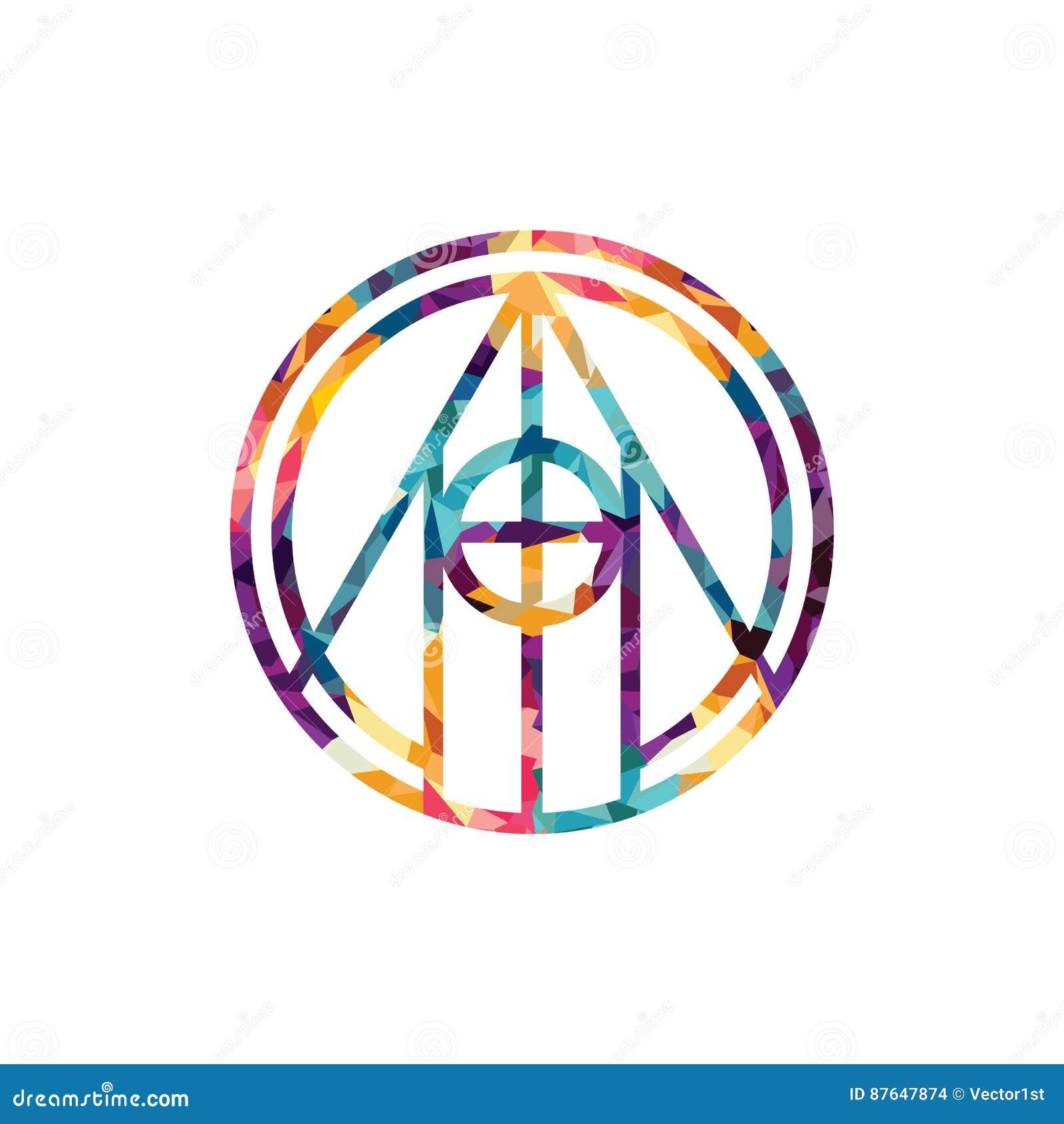 Etnisk mystisk modell med prydnaden för triangelcirkelMandala Ethnic cirkel