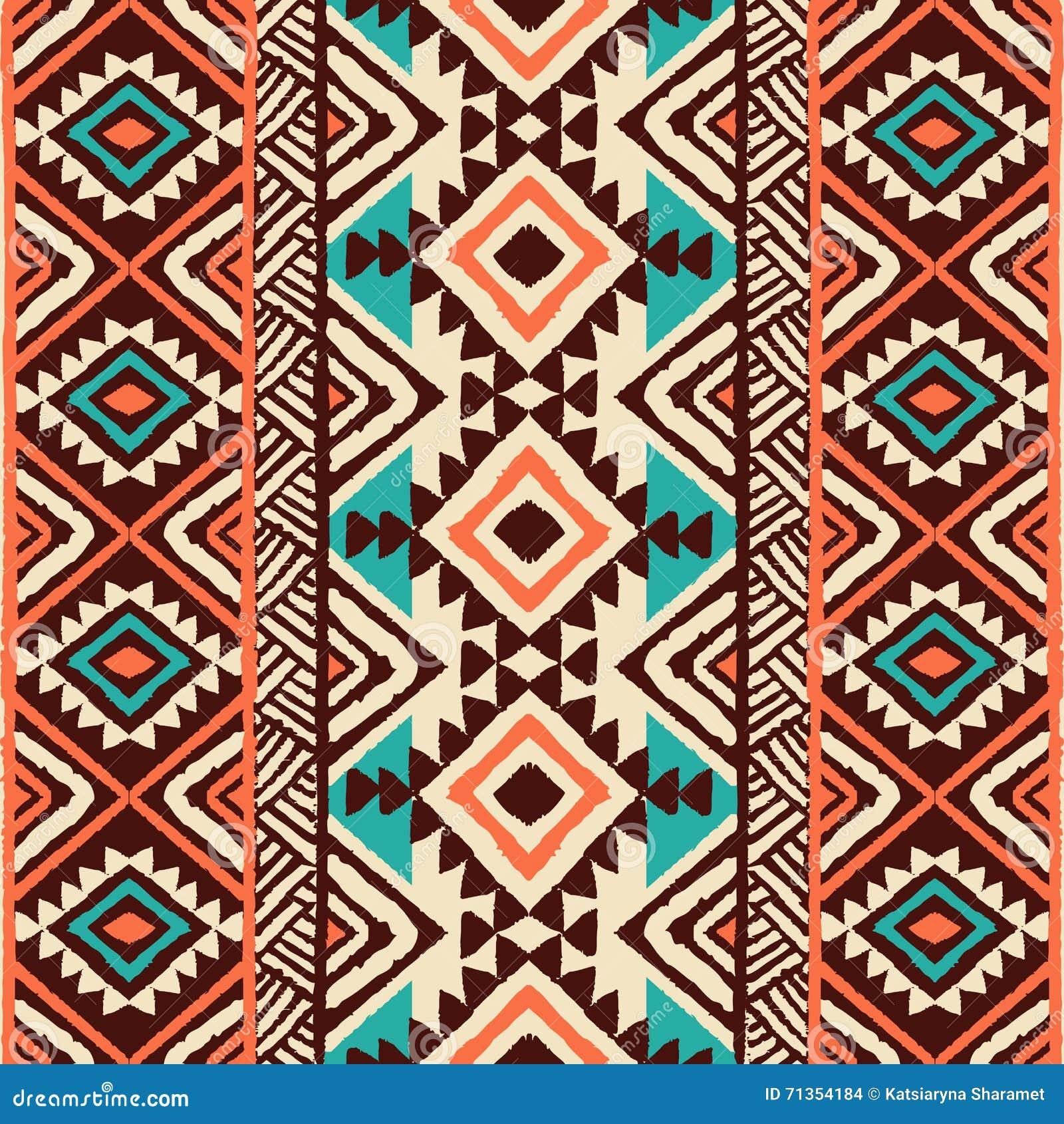 Etnisk prydnad Sömlös Navajomodell