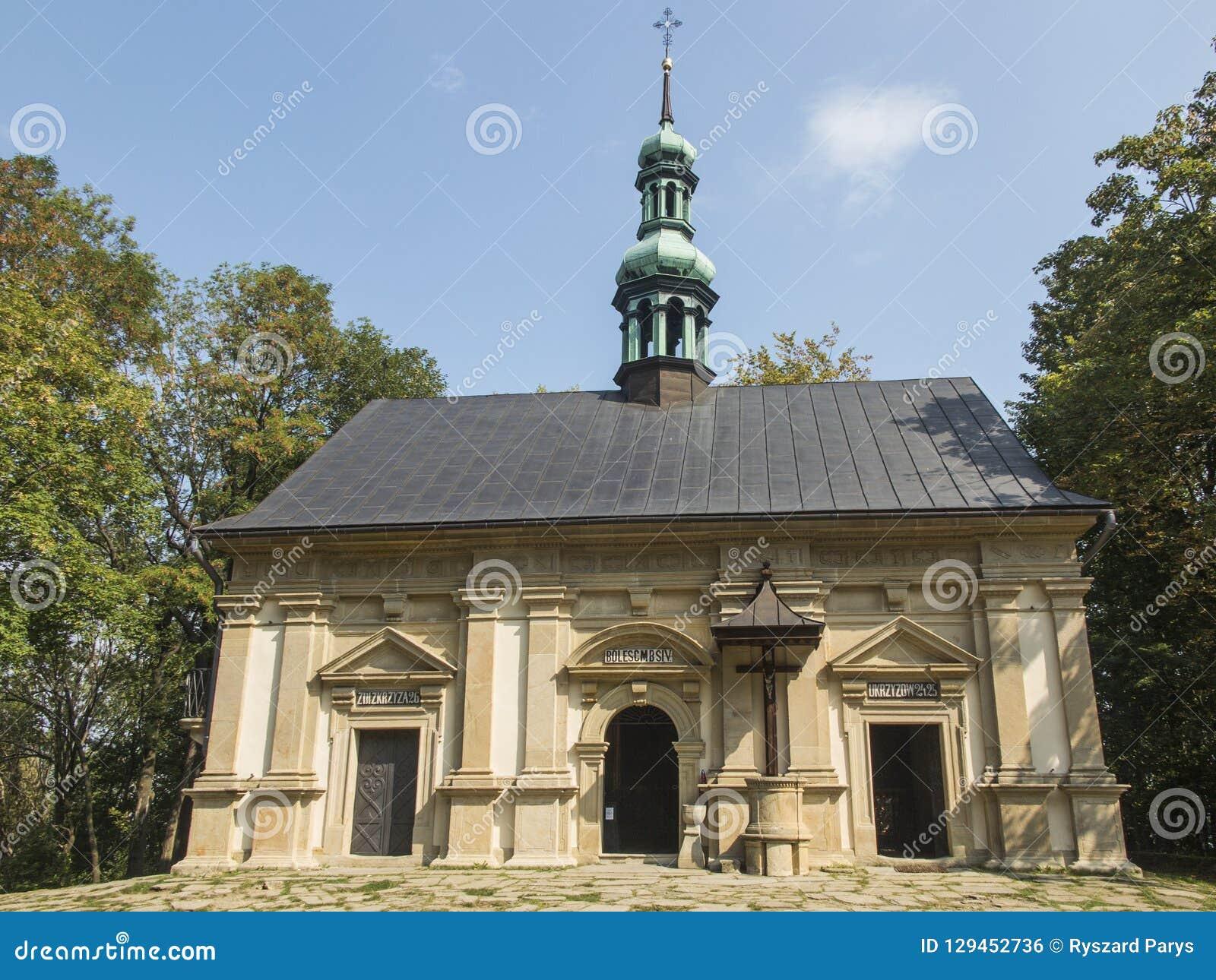Ett av kapellen på de Kalwaria banorna i Marian-passionen s