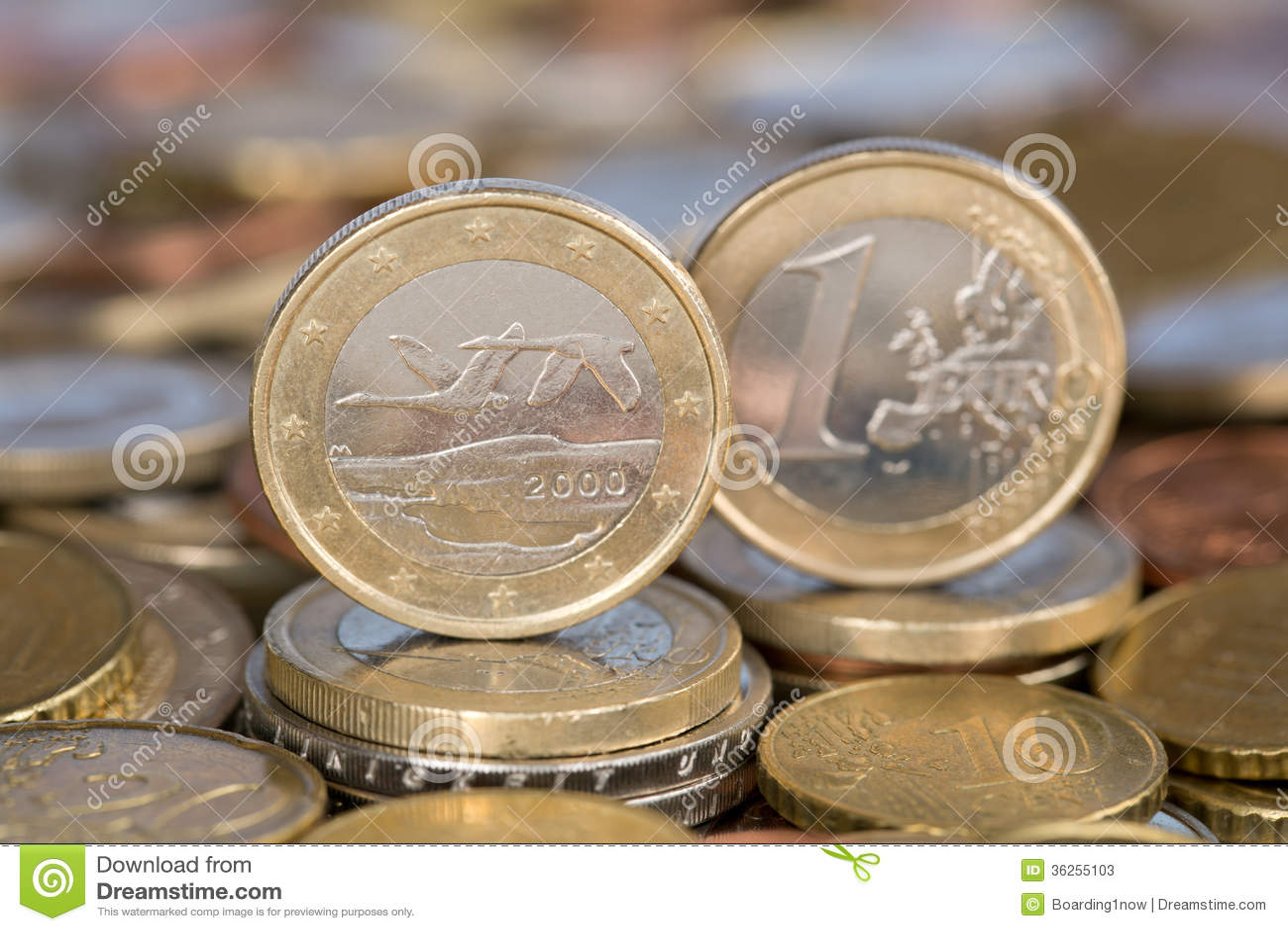 Ett euromynt från Finland