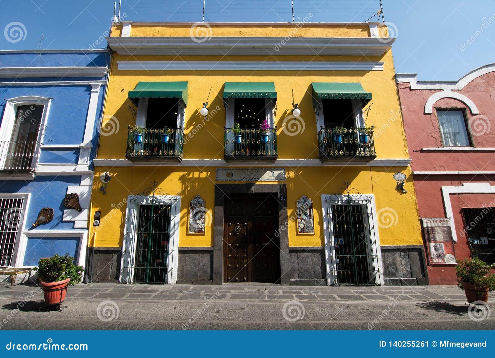 Ett hus med talavera i Puebla