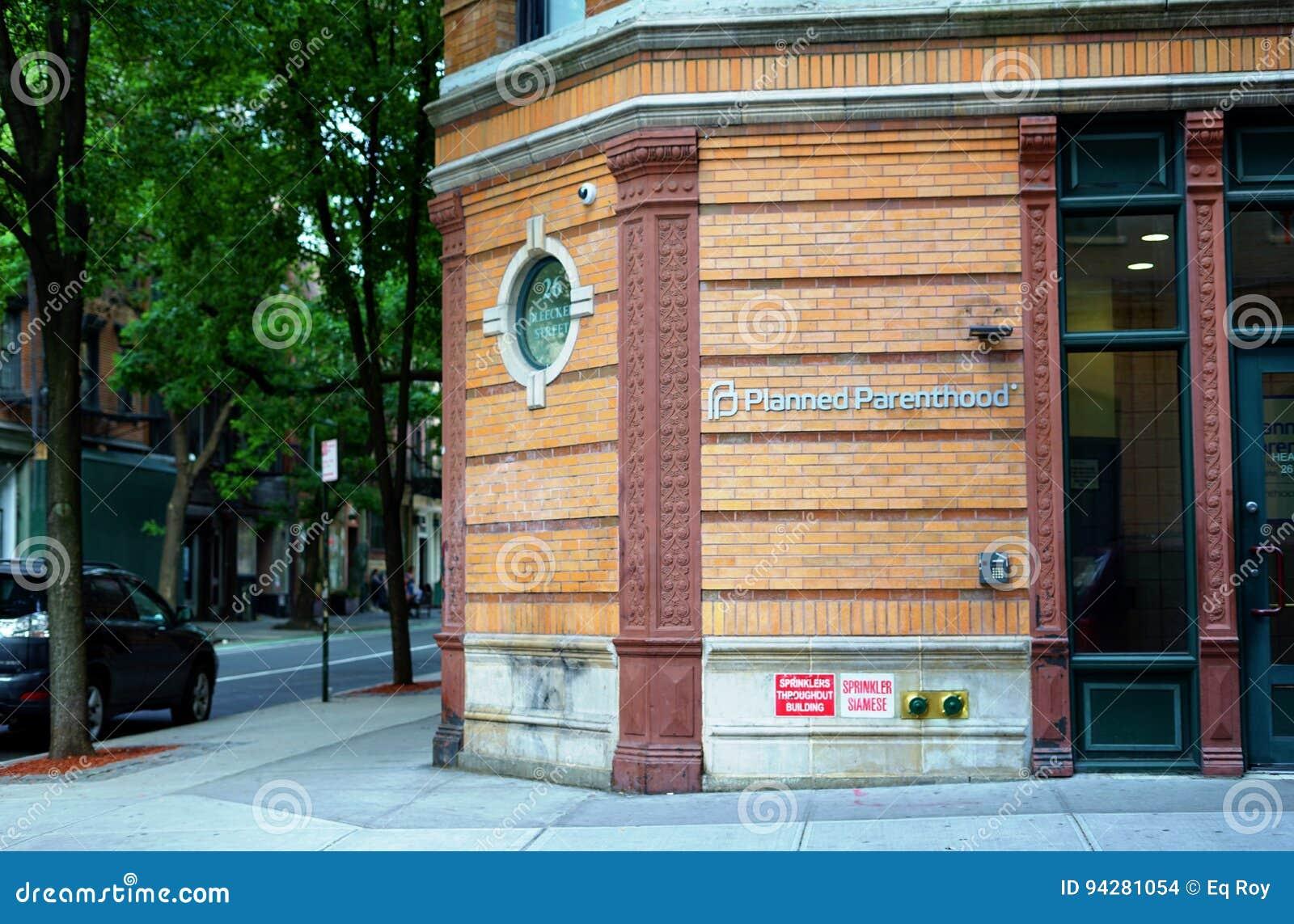 Ett kontor av Planned föräldraskap i New York City