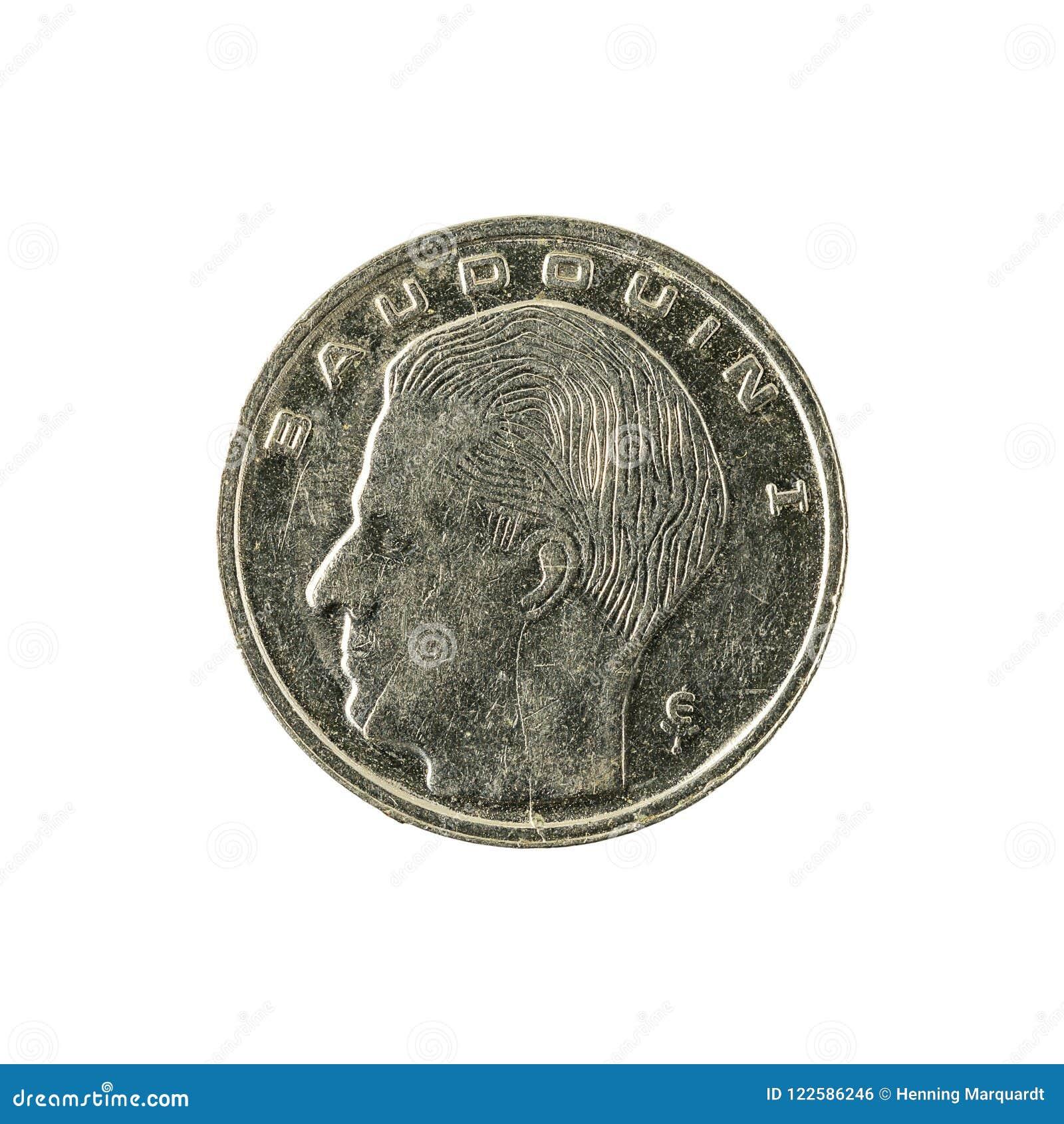 Ett mynt 1991 isolerat för belgisk franc