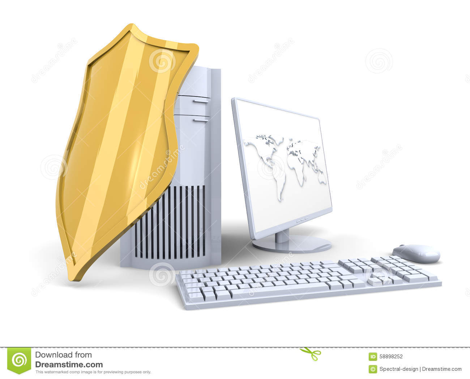 Ett skyddat och skyddat skrivbords- ADB-system