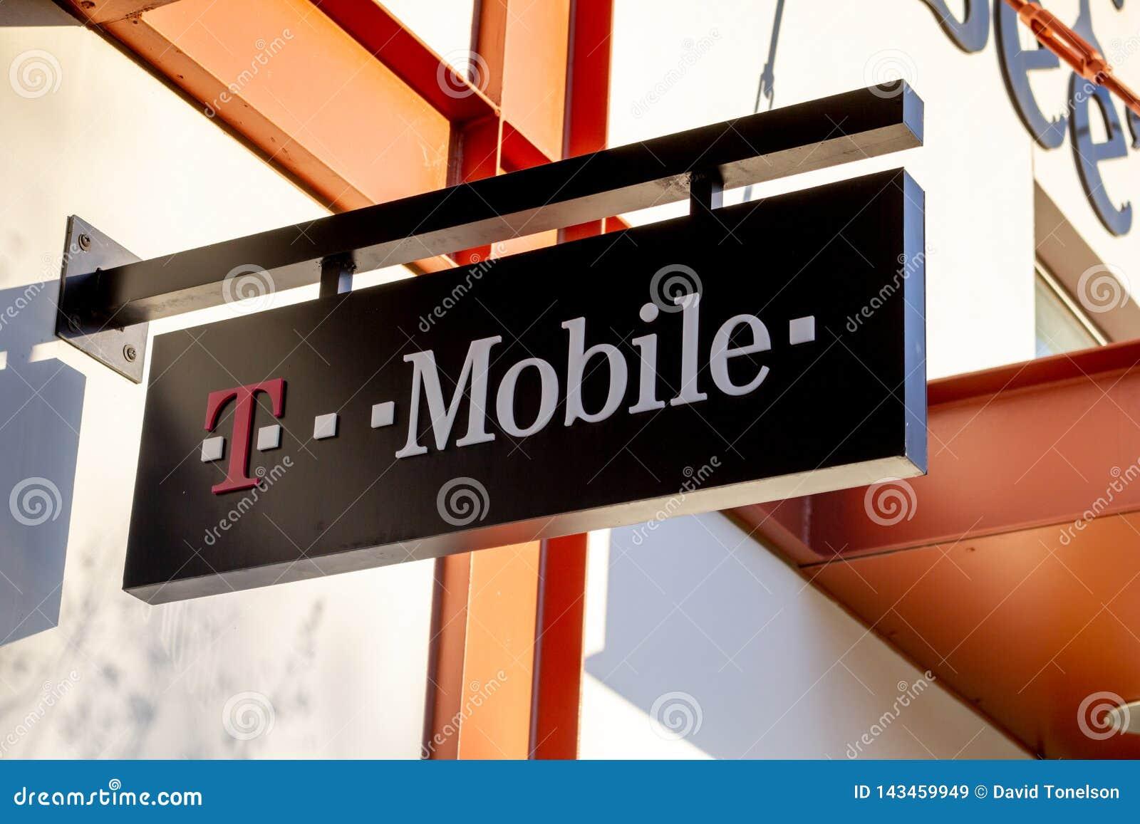 Ett tecken för ett T-Mobile lager