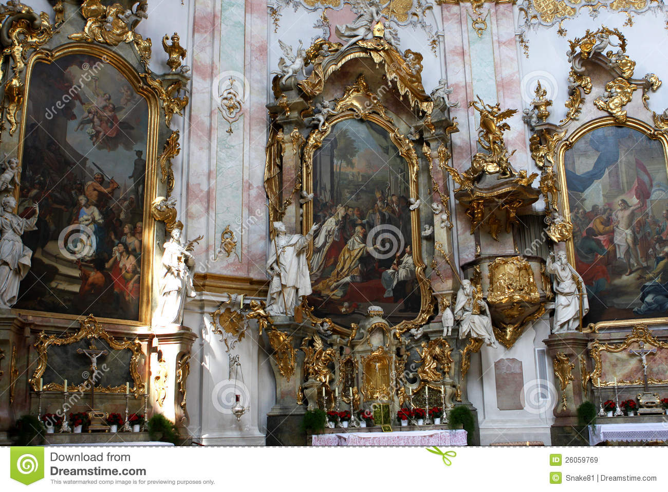Ettal Germany  city photo : Ettal Abbey, Germany Royalty Free Stock Images Image: 26059769