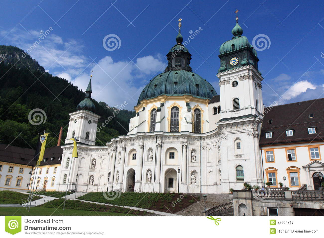 Ettal Germany  city pictures gallery : The Ettal monastery near Oberammergau in Bavaria, Germany, which also ...