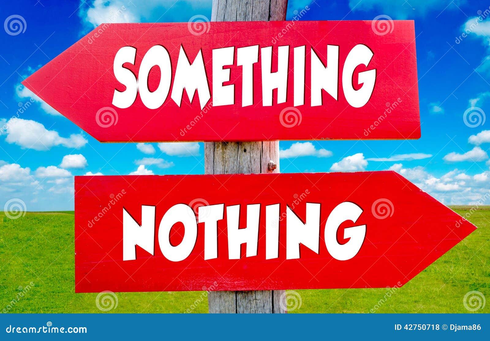 Etwas und nichts