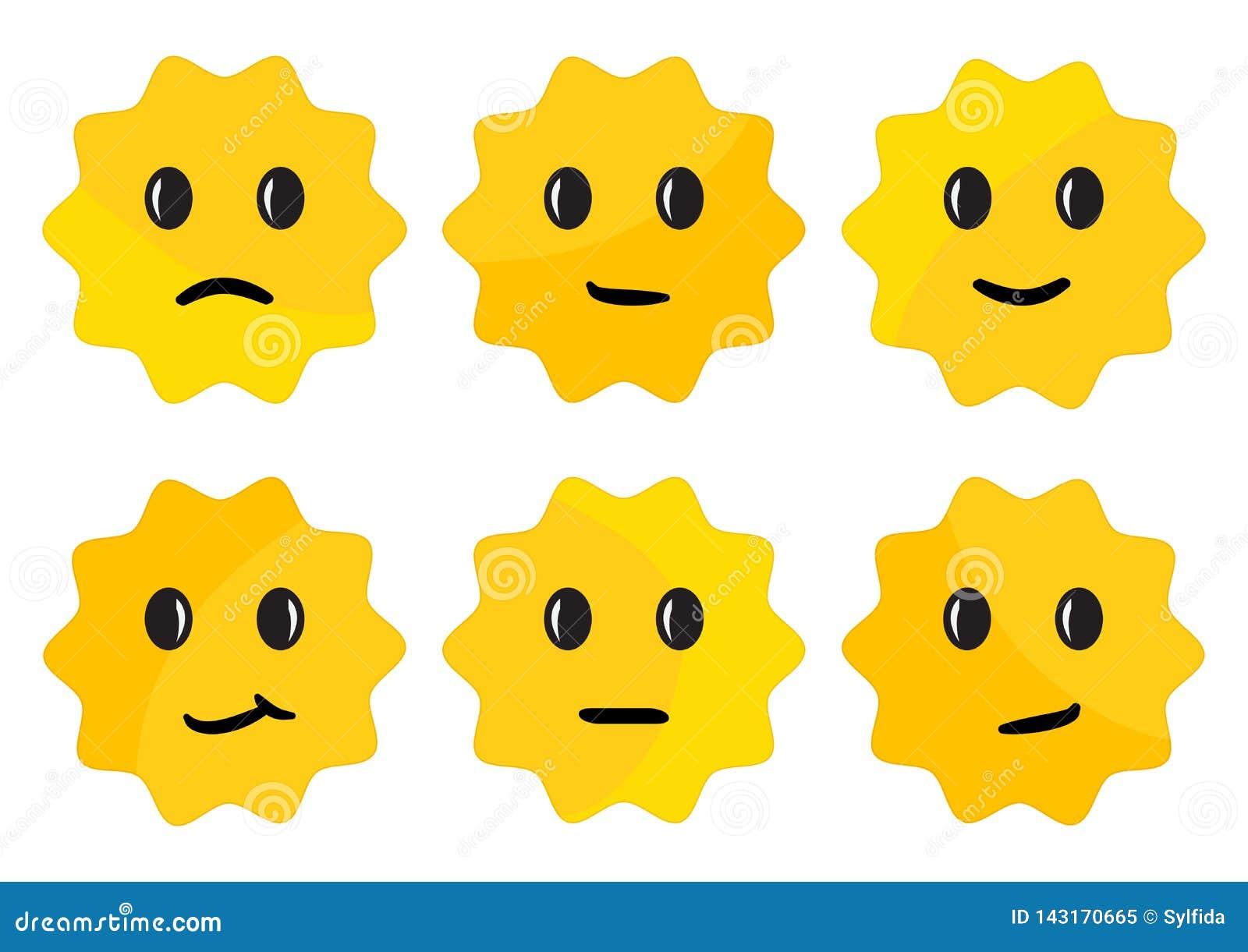 Etykietka z twarzy emocjami, ?