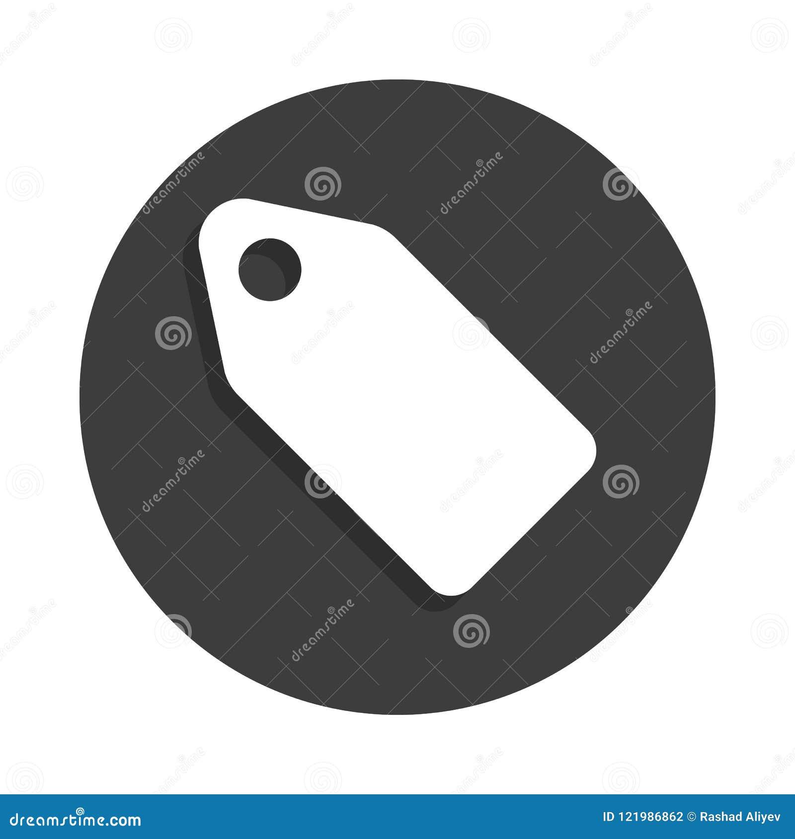 Etykietki ikona w odznaka stylu z cieniem