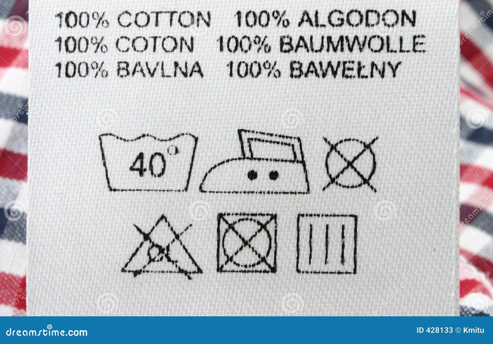 Etykiety ubraniowej makro real