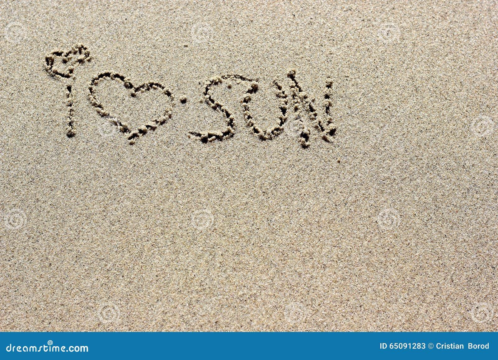 Eu Te Amo Escrito Na Areia Imagens De Stock Royalty Free: Eu Amo As Palavras Do Sol Escritas Na Areia Textura Do