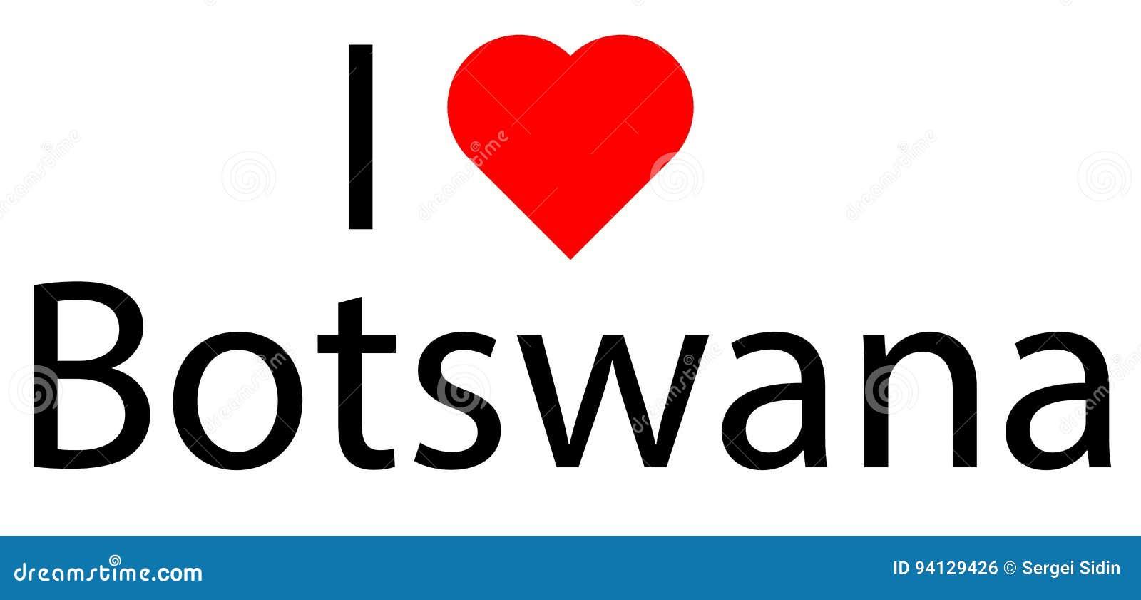 Eu amo Botswana