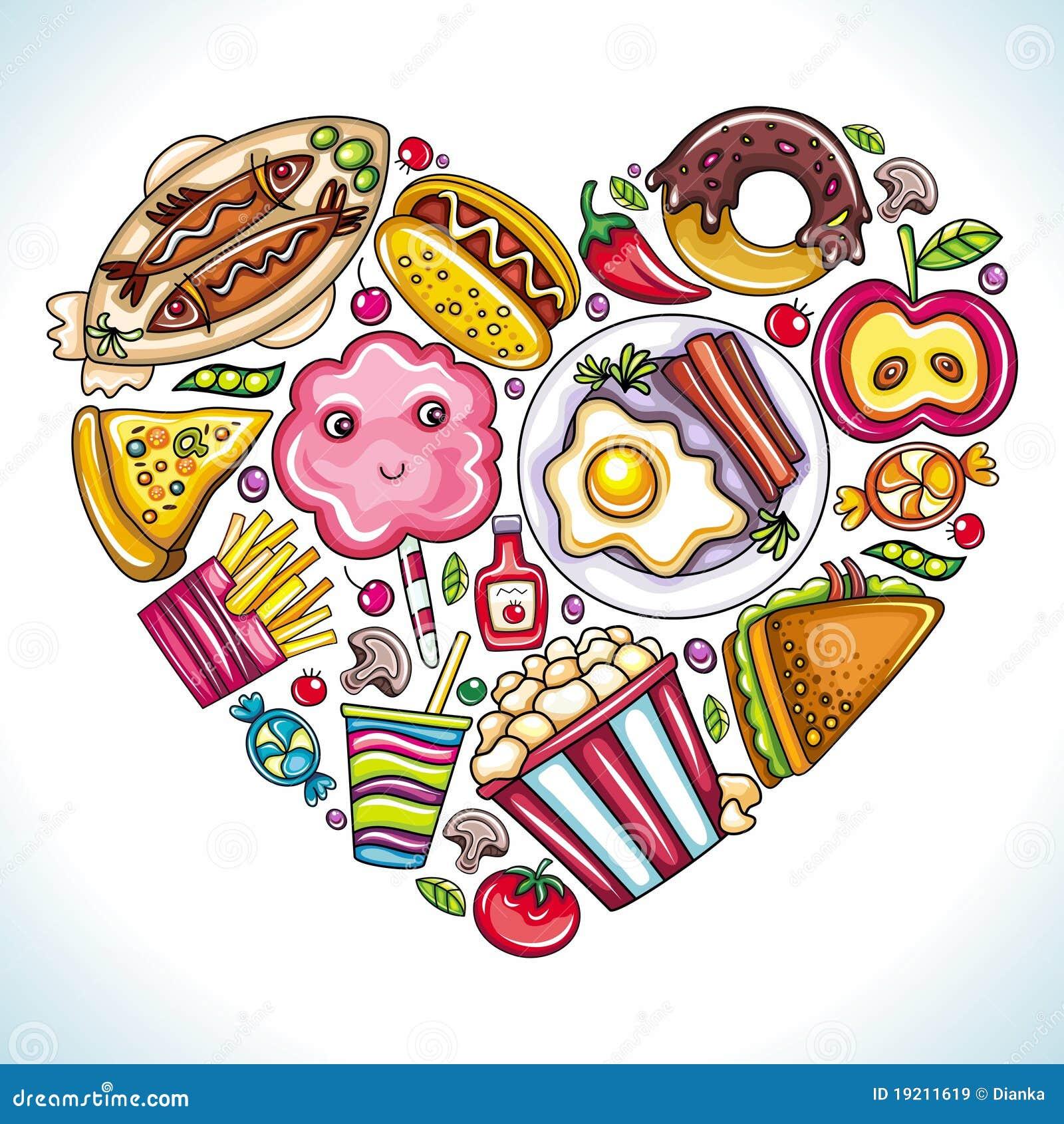 Eu Amo Comer Imagens De Stock Royalty Free Imagem 19211619
