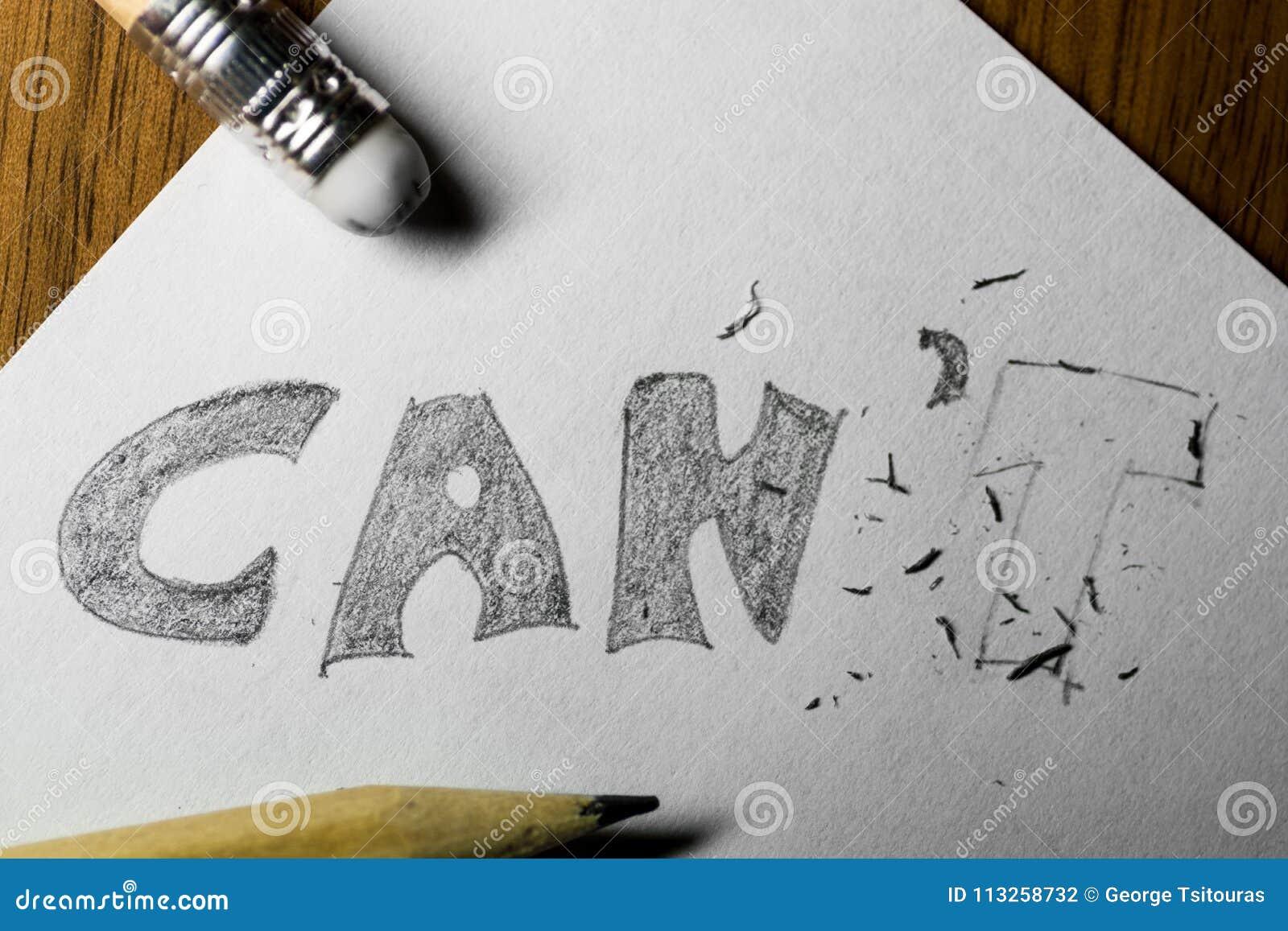 Eu posso o ` t, escrito no lápis com o t apagado