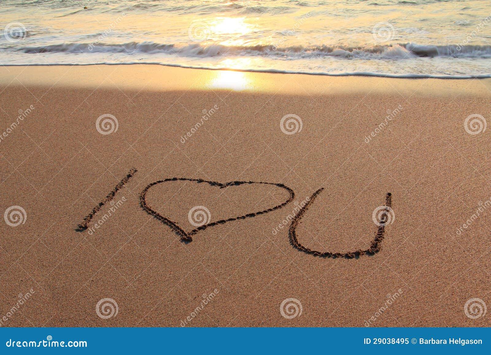 Eu Te Amo Escrito Na Areia Imagens De Stock Royalty Free: Eu Te Amo Praia Imagem De Stock. Imagem De Paradise