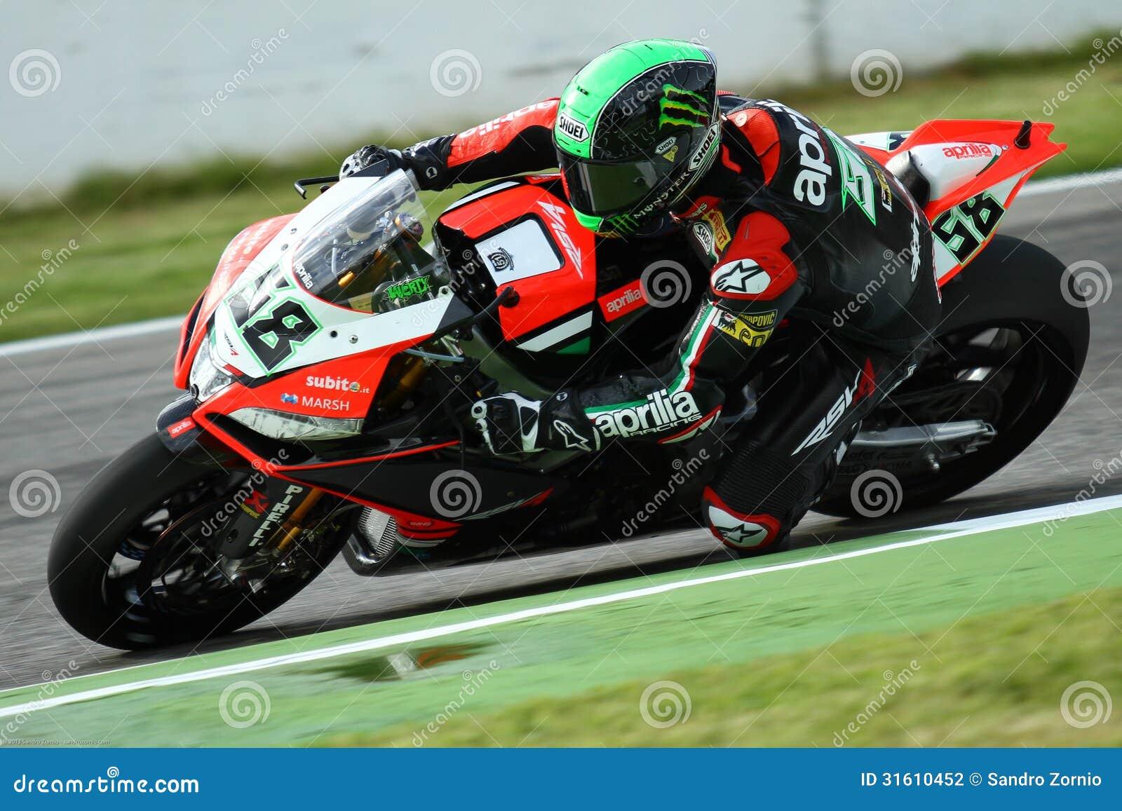 Eugene Laverty #58 on Aprilia RSV4 1000 Factory with Aprilia Racing Team Superbike WSBK