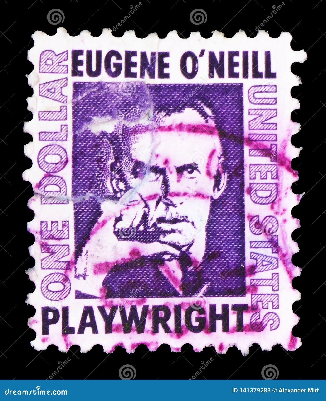 Eugene O 'Neill (188-1953), dramaturgo, serie famoso dos americanos, cerca de 1967