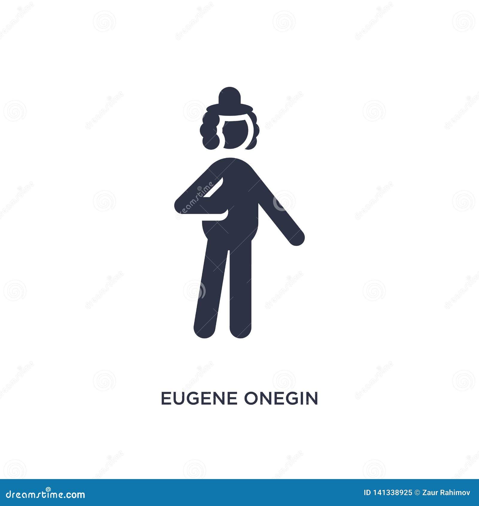 Eugene onegin pictogram op witte achtergrond Eenvoudige elementenillustratie van literatuurconcept