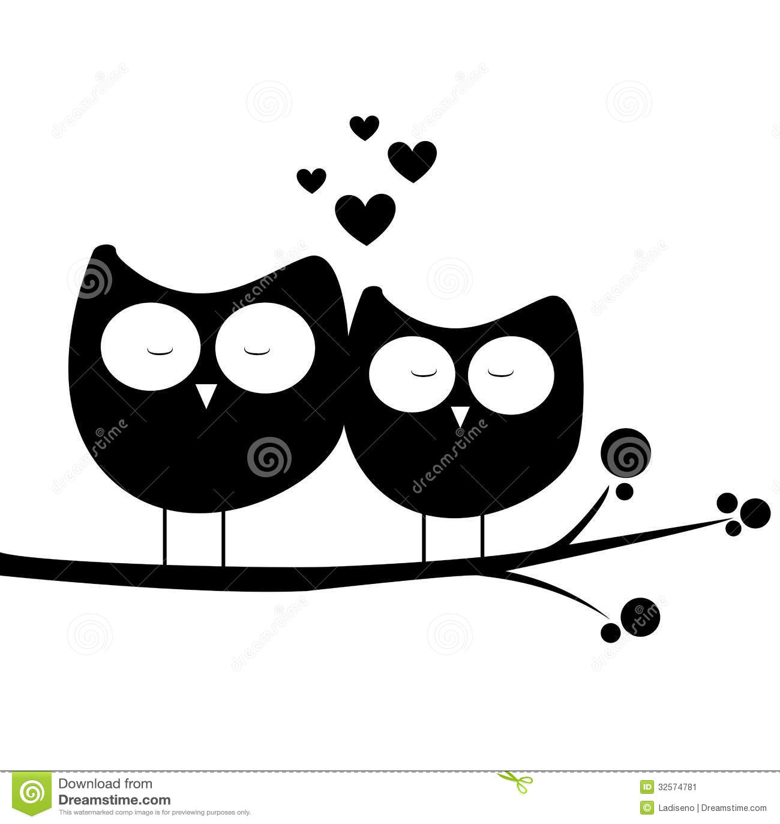 Eule in der liebe vektor abbildung illustration von eule - Blanco y negro paint ...