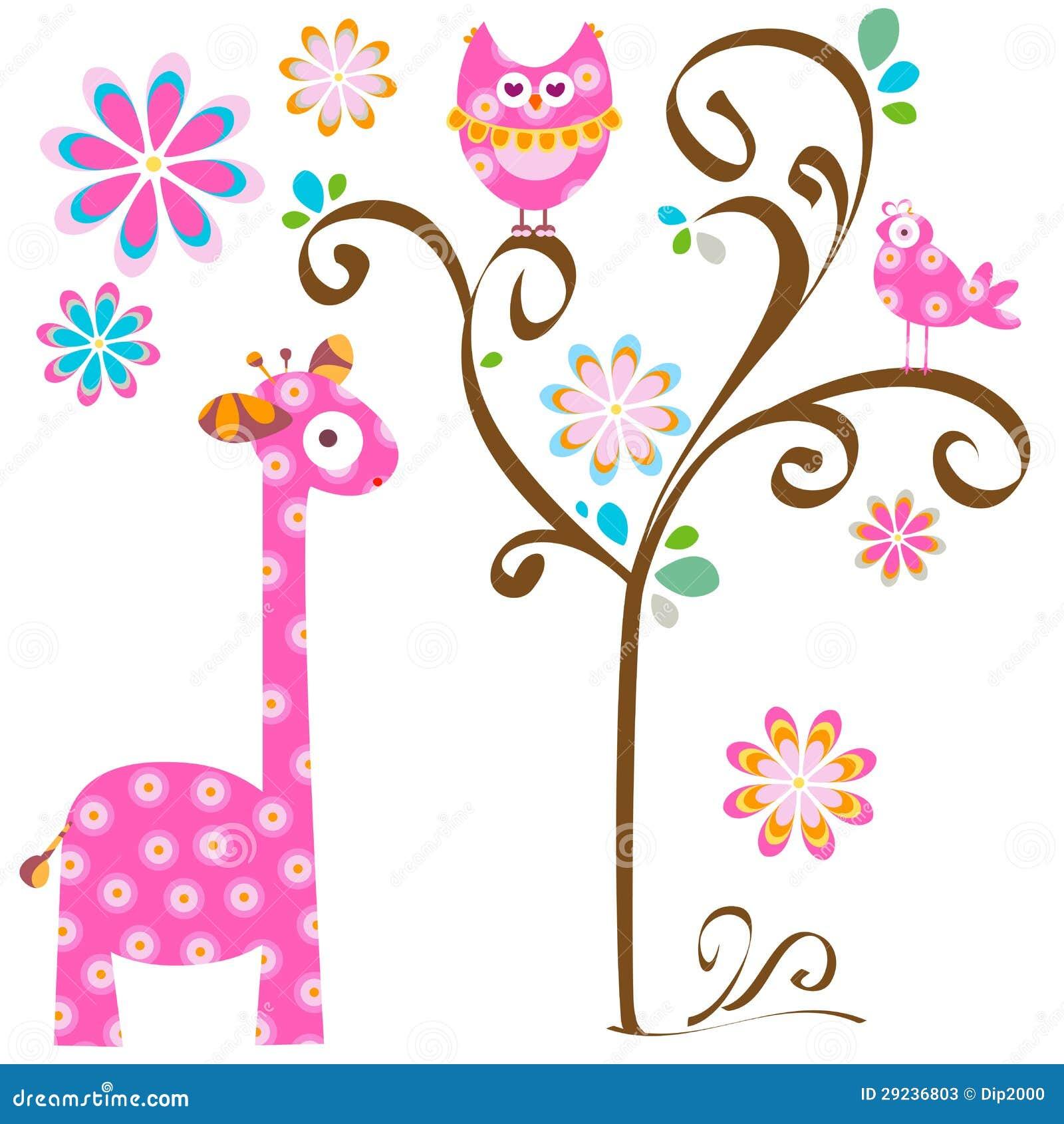 Eule und Giraffe