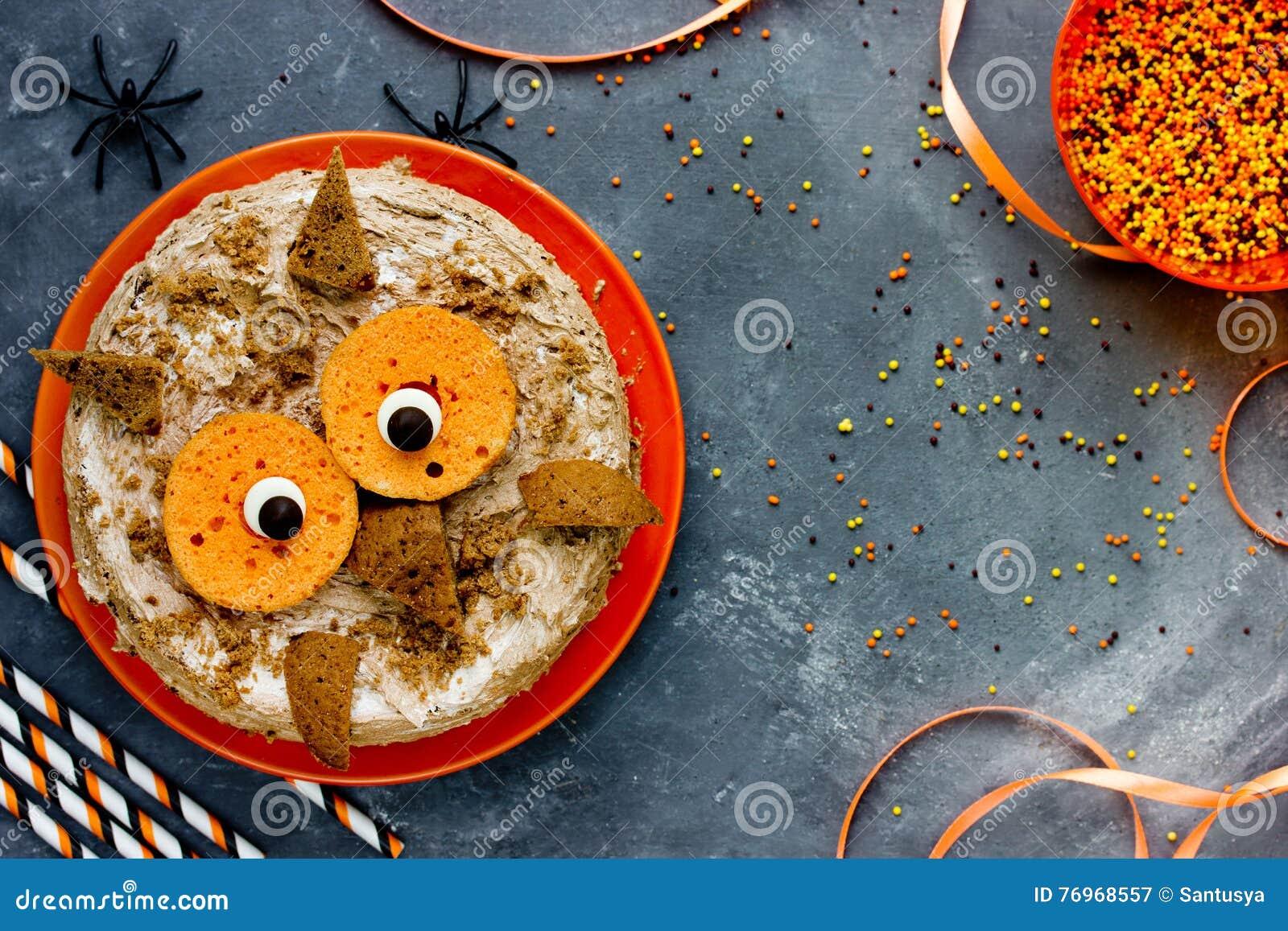 Eulenkuchen Halloween Oder Geburtstagsfeiernachtisch Kostliche