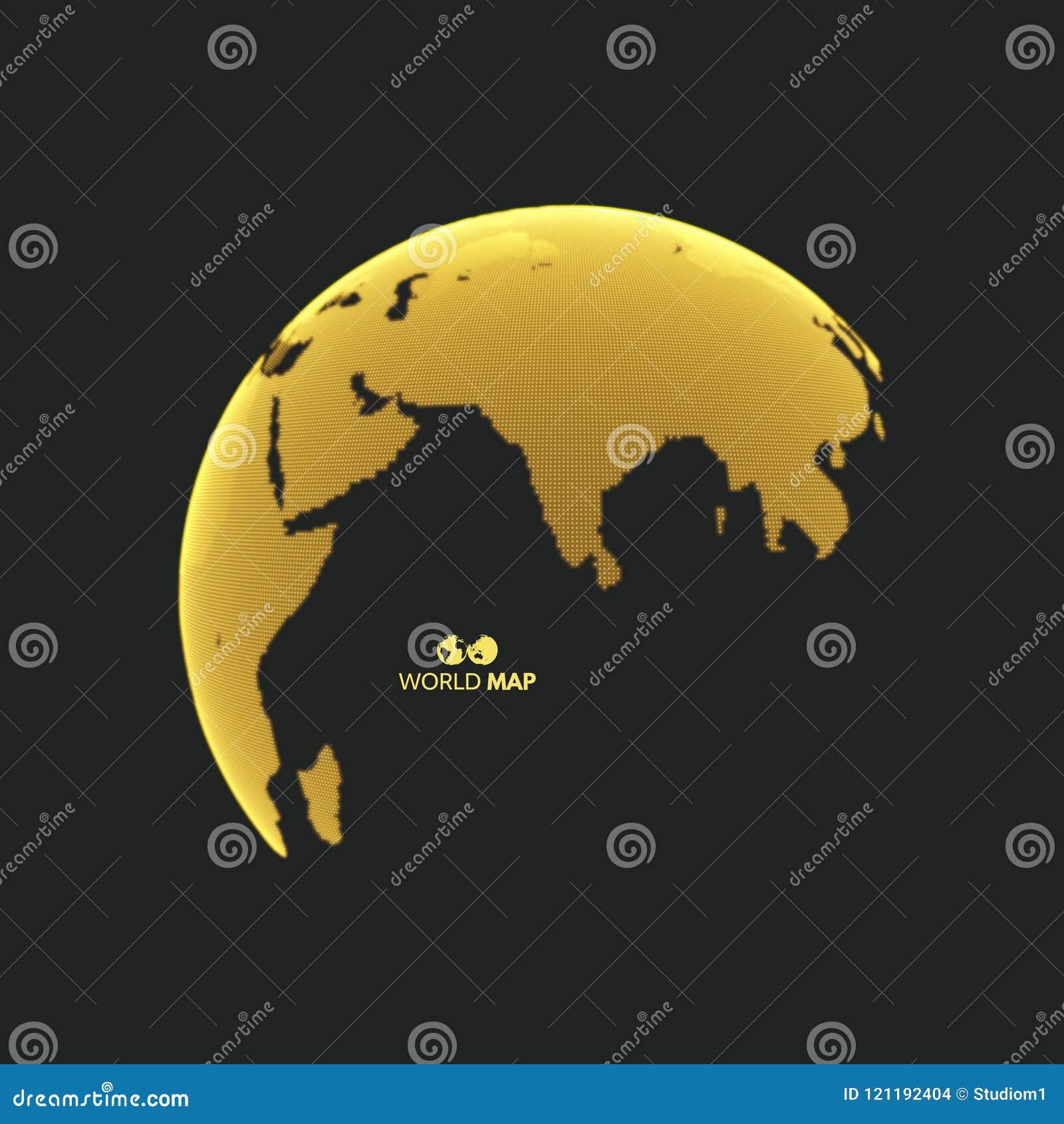 Eureka - globus ziemi Globalnego biznesu marketingowy pojęcie Kropkowany styl