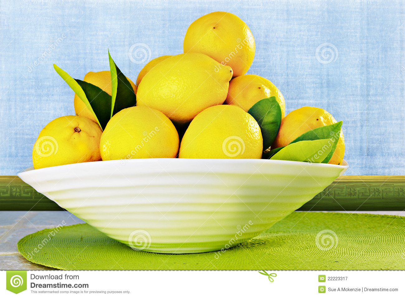 Eureka Lemons In A White China Bowl Grunge Wall Royalty