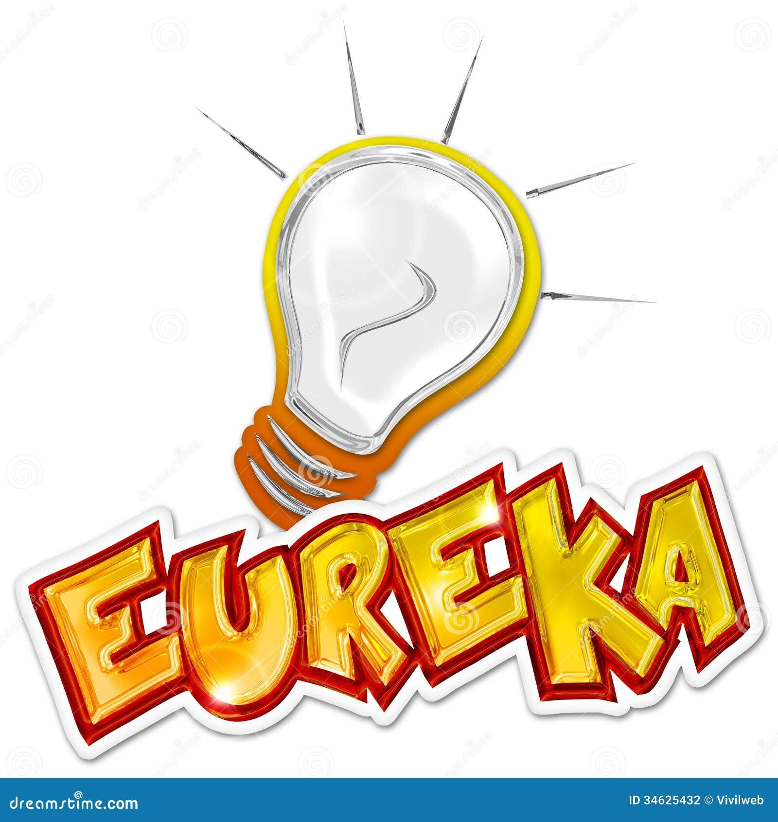 Eureka Sticker Stock Photography - Image: 34625432
