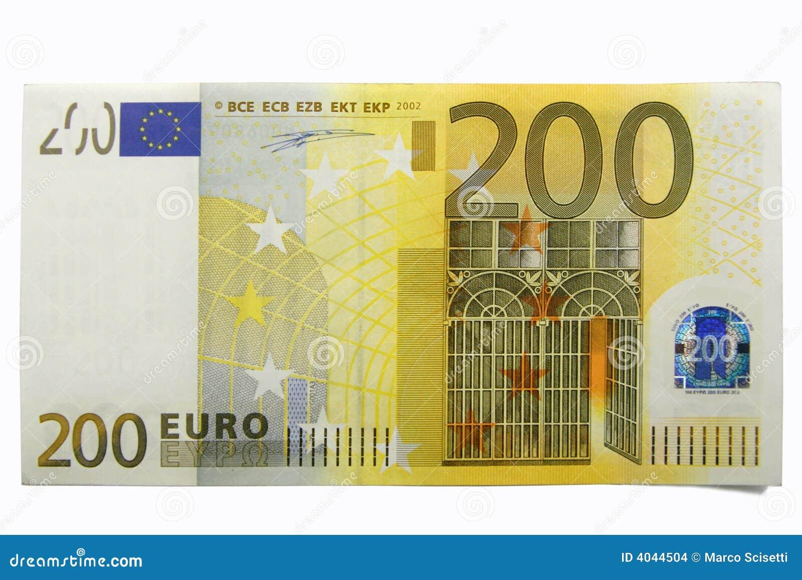 Euro 200 hundra två