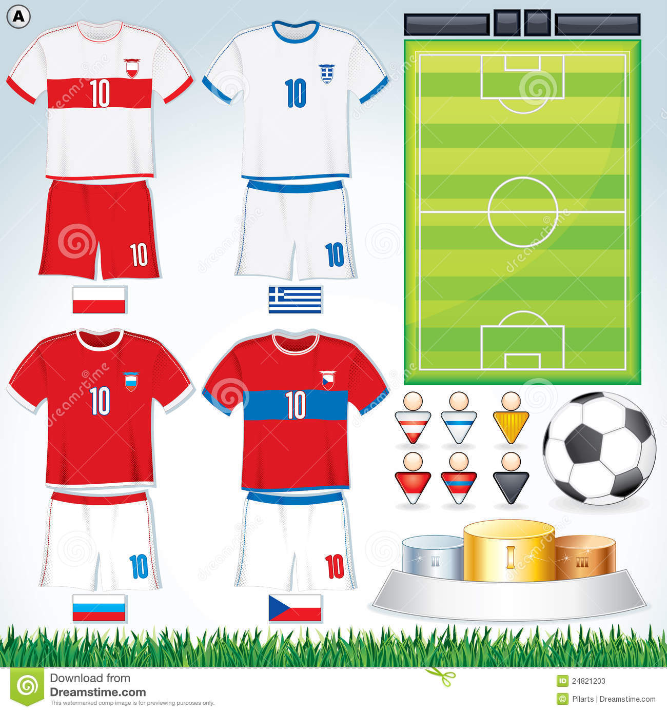 Euro 2012 group a stock vector image of czech referee for Euro 2012 groupe