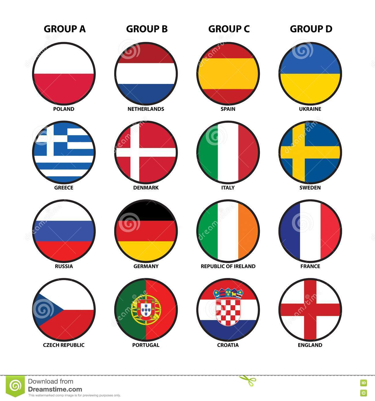 Euro 2012 groups royalty free stock photography image for Euro 2012 groupe