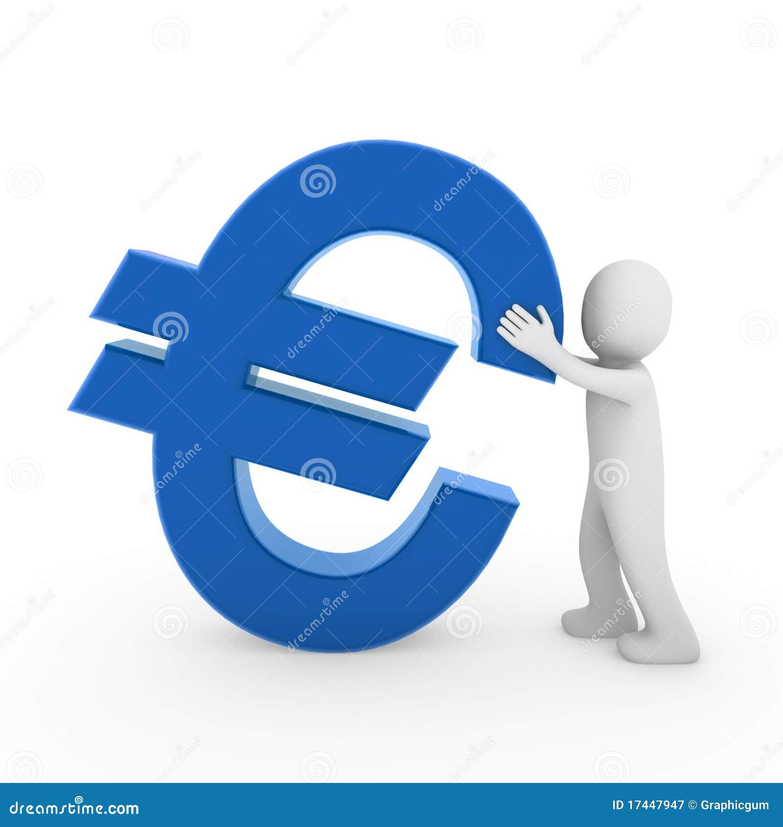 euro 3d humain illustration stock illustration du c t 17447947. Black Bedroom Furniture Sets. Home Design Ideas