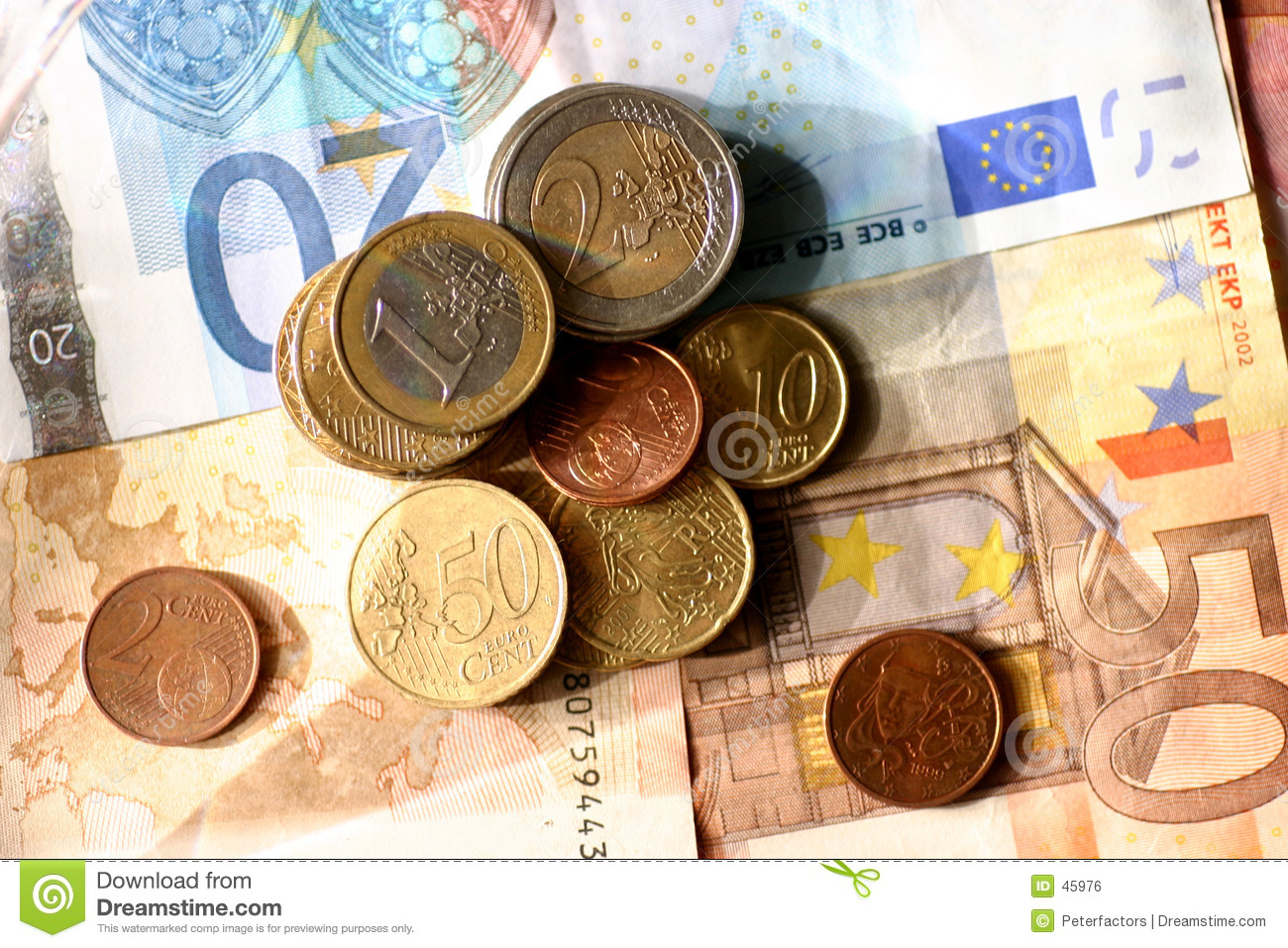 Download Euro stock photo. Image of money, european, dinero, jangle - 45976