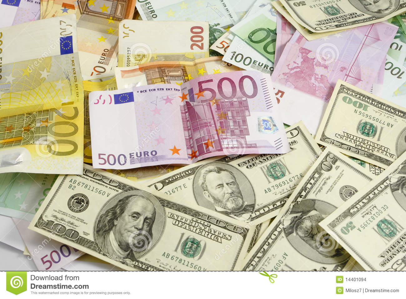 euro and american money stock photo image of background 14401094. Black Bedroom Furniture Sets. Home Design Ideas