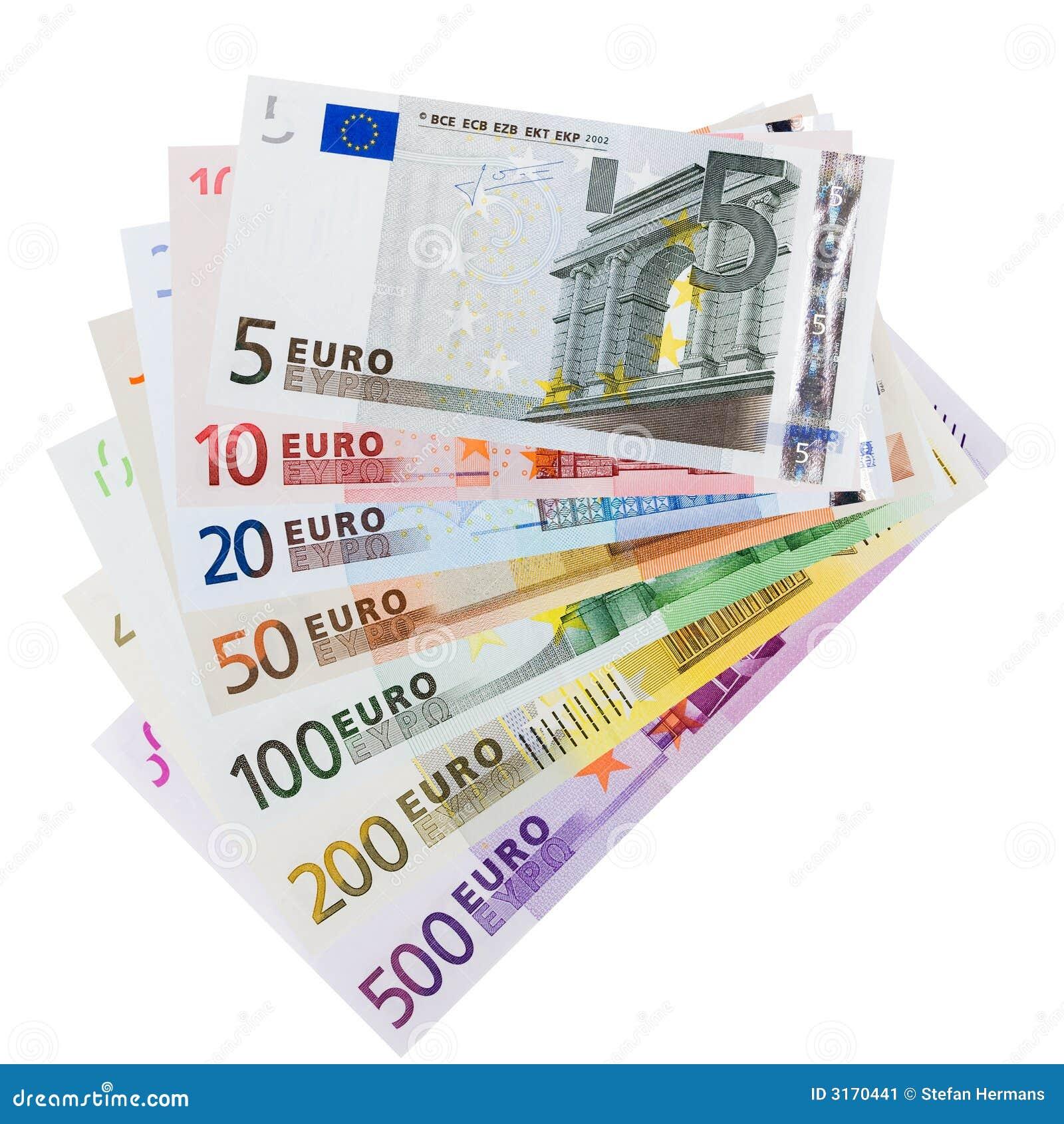 Euro Banknotes Stock Image - Image: 3170441