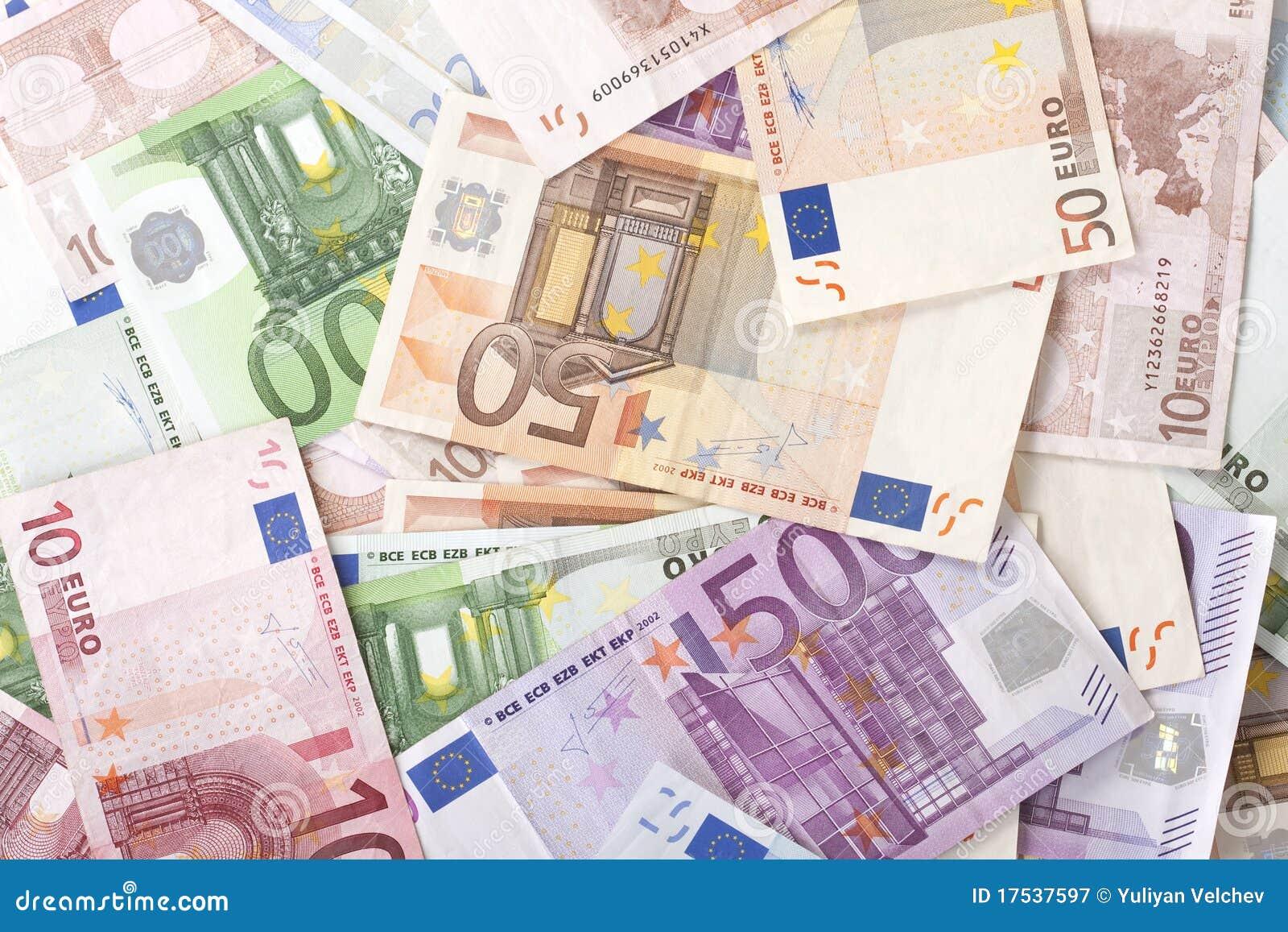euro billets de banque photographie stock libre de droits image 17537597. Black Bedroom Furniture Sets. Home Design Ideas