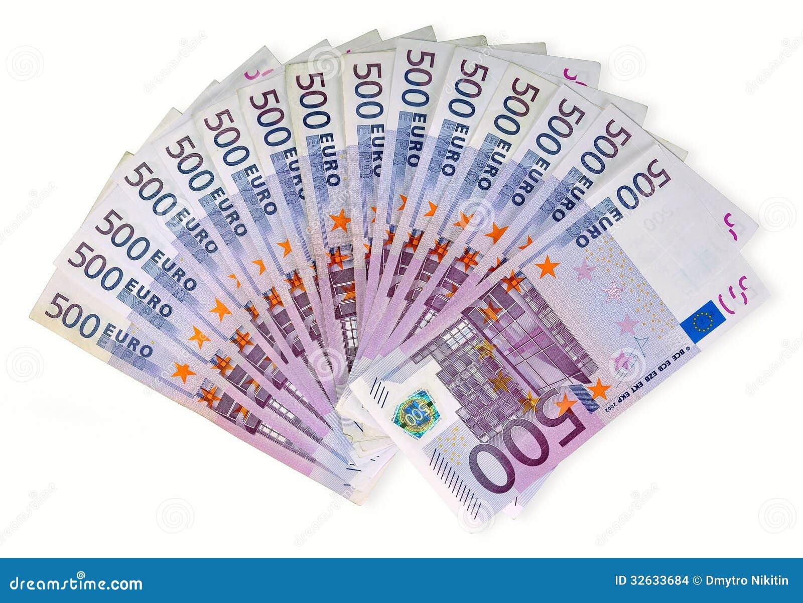 euro billets de banque d 39 argent images stock image 32633684. Black Bedroom Furniture Sets. Home Design Ideas