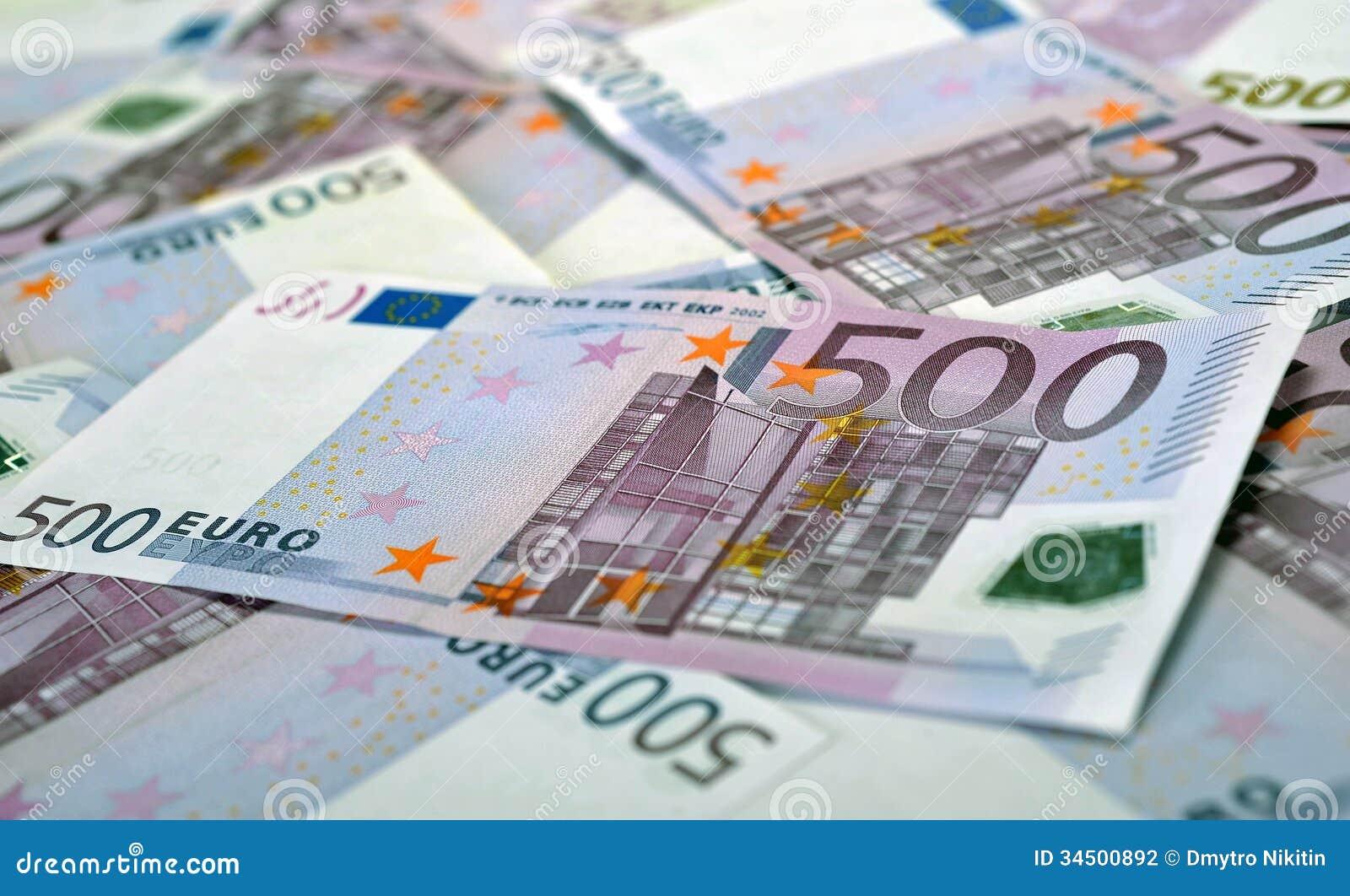 500 euro billets de banque d 39 argent photographie stock image 34500892. Black Bedroom Furniture Sets. Home Design Ideas