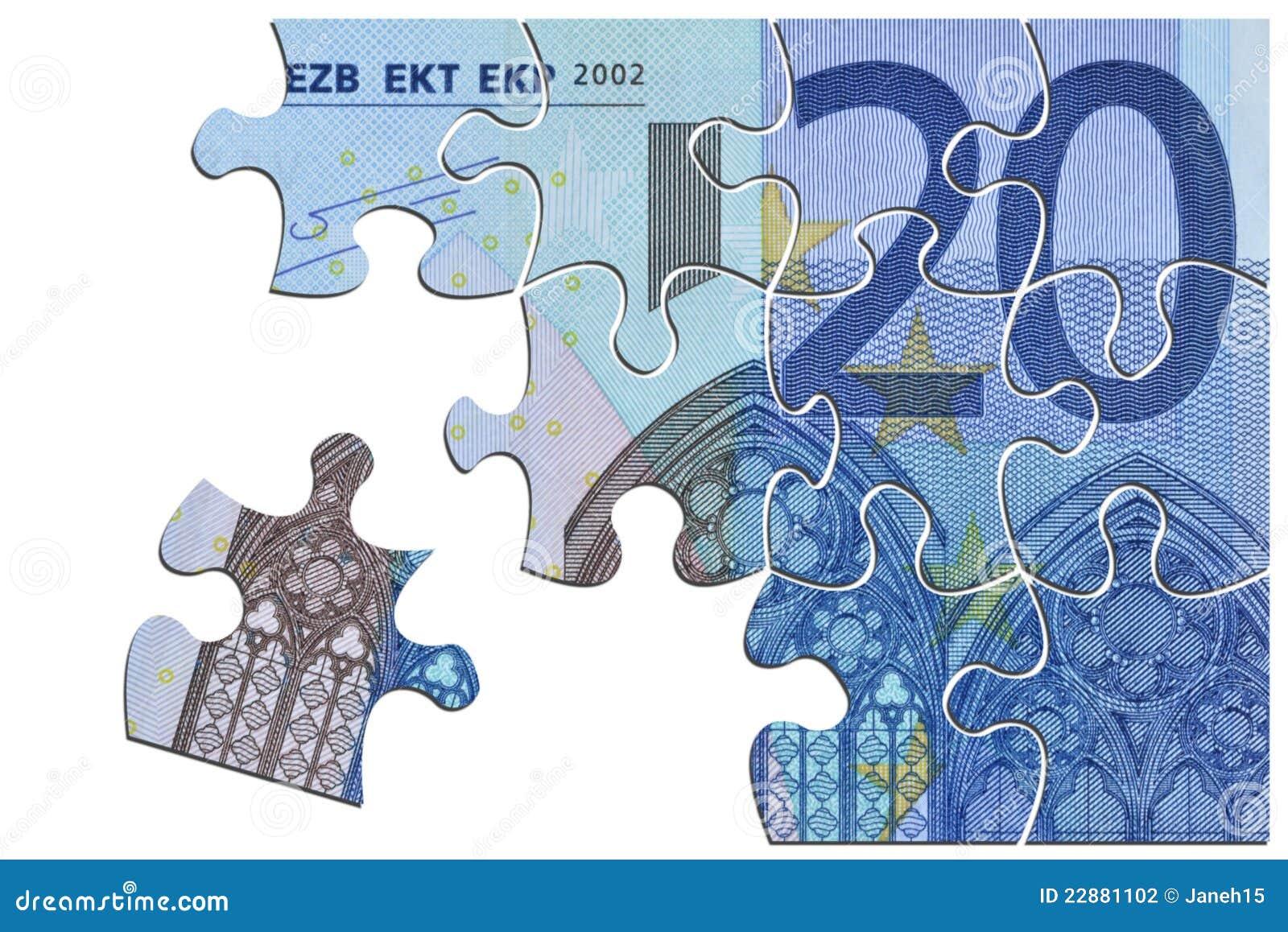 Euro brechen Sie oben