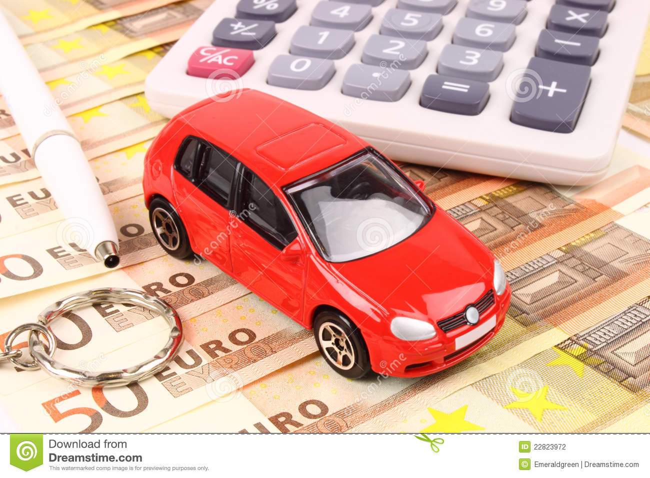 Euro Car Money stock photo. Image of dealer, currency - 22823972