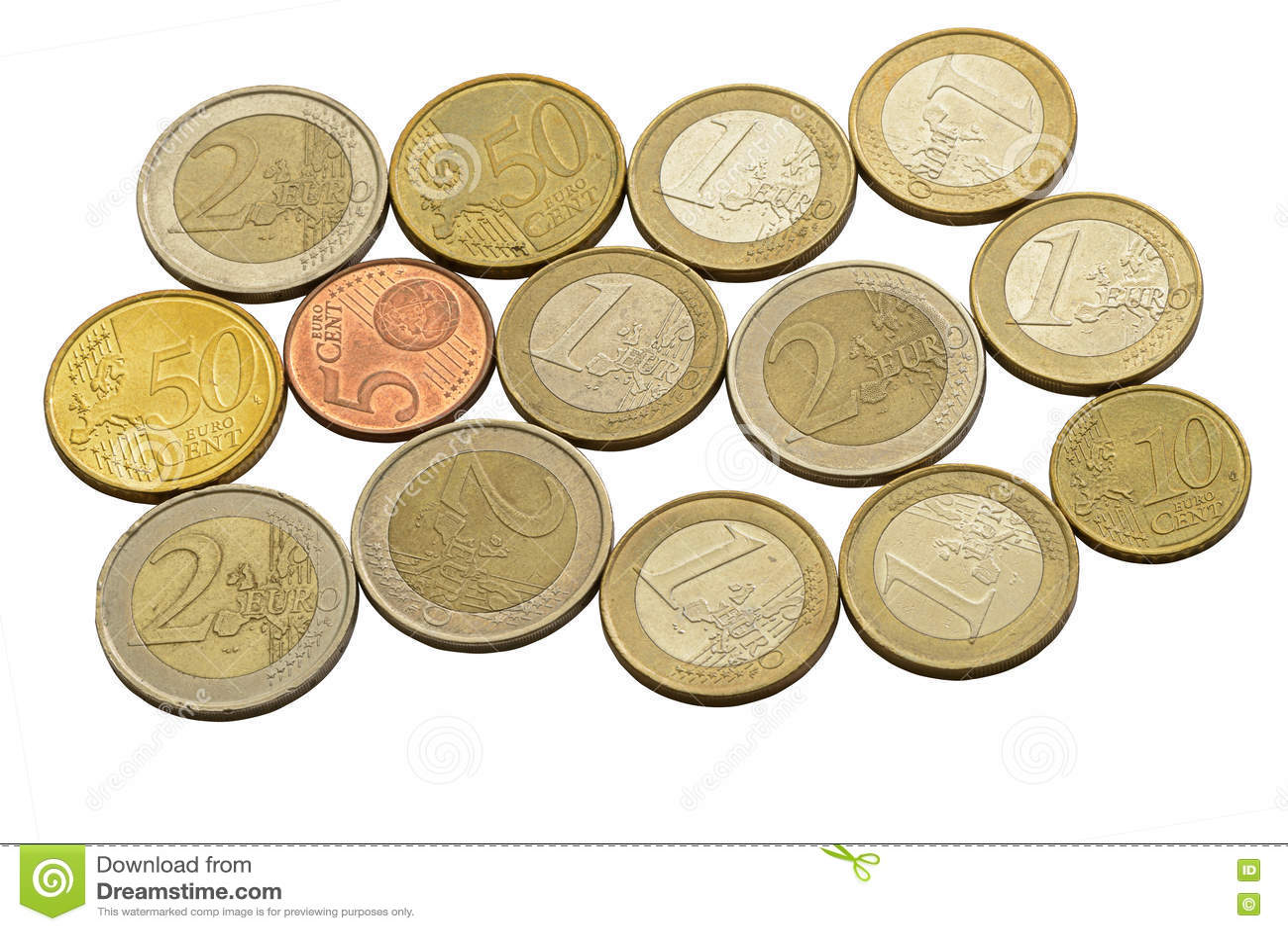 Euro centy i monety