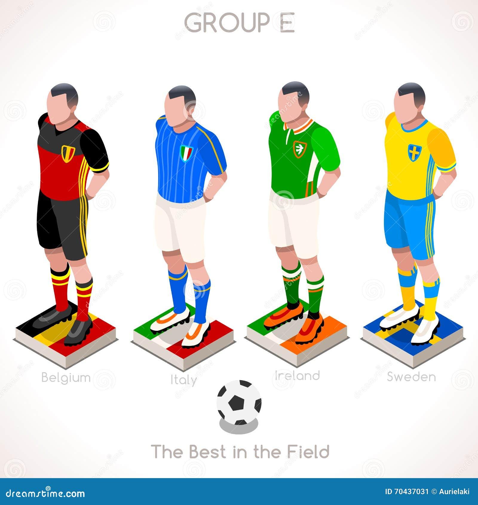 EURO 2016 Championship GROUP E Stock Vector