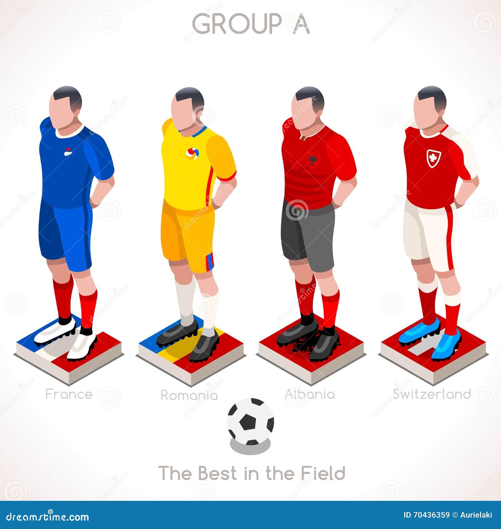EURO 2016 Championship GROUP A Stock Vector